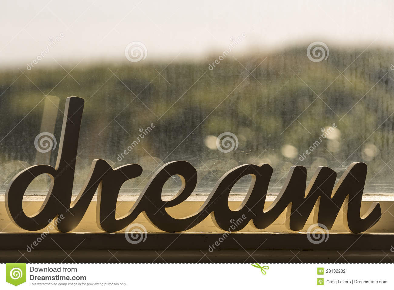 Dream Word Stock Photo Image Of Home Goal
