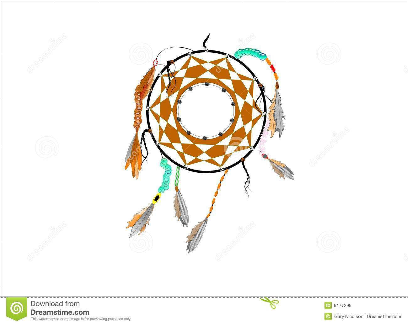Dreamcatcher royalty free stock images image 9177299 for Dream catcher graphic