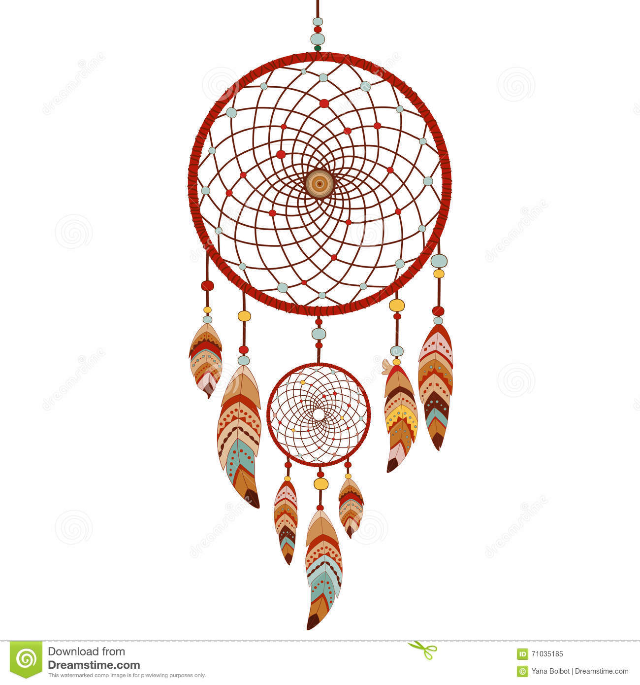 Pictures Of Dream Catchers: Dreamcatcher Colorful Logo Stock Vector. Illustration Of