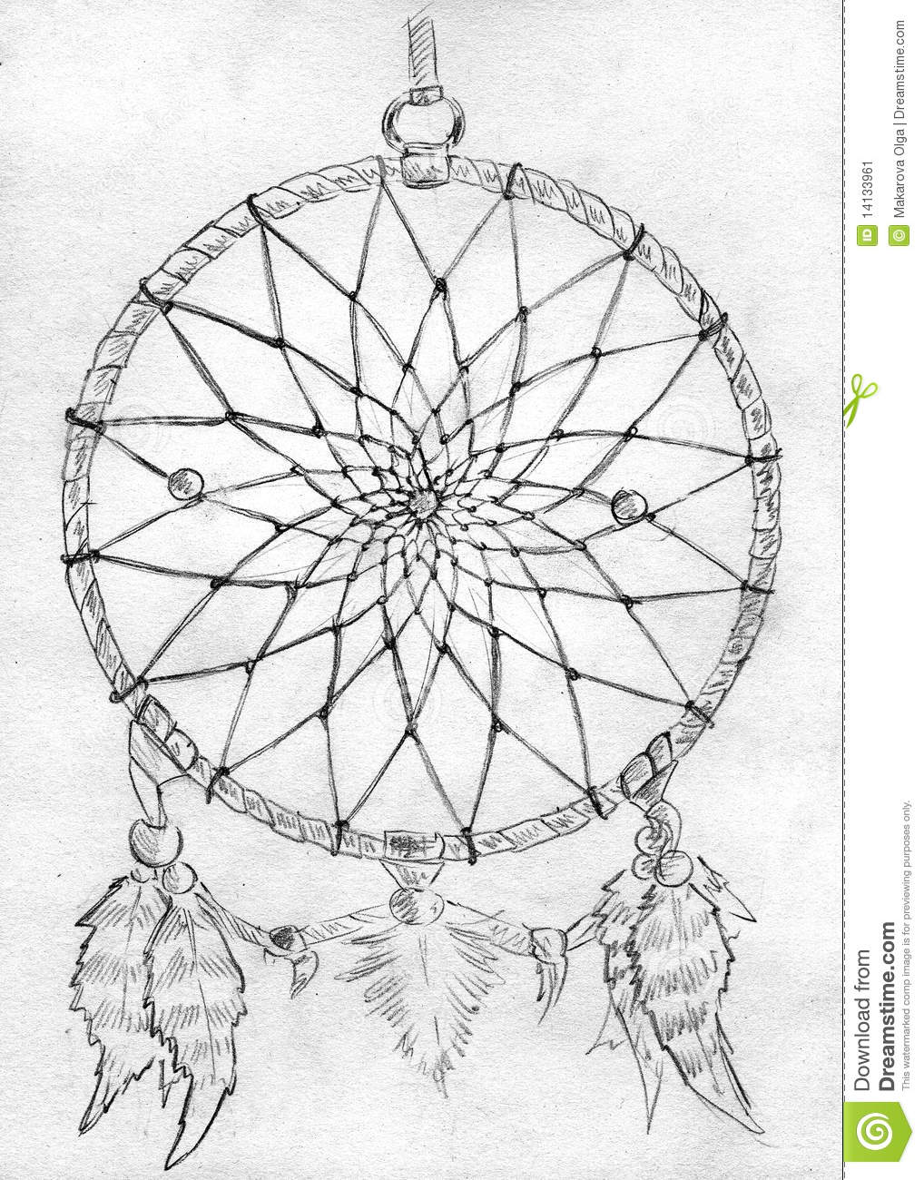 Dreamcatcher Sketch Stock Image Image 14133961