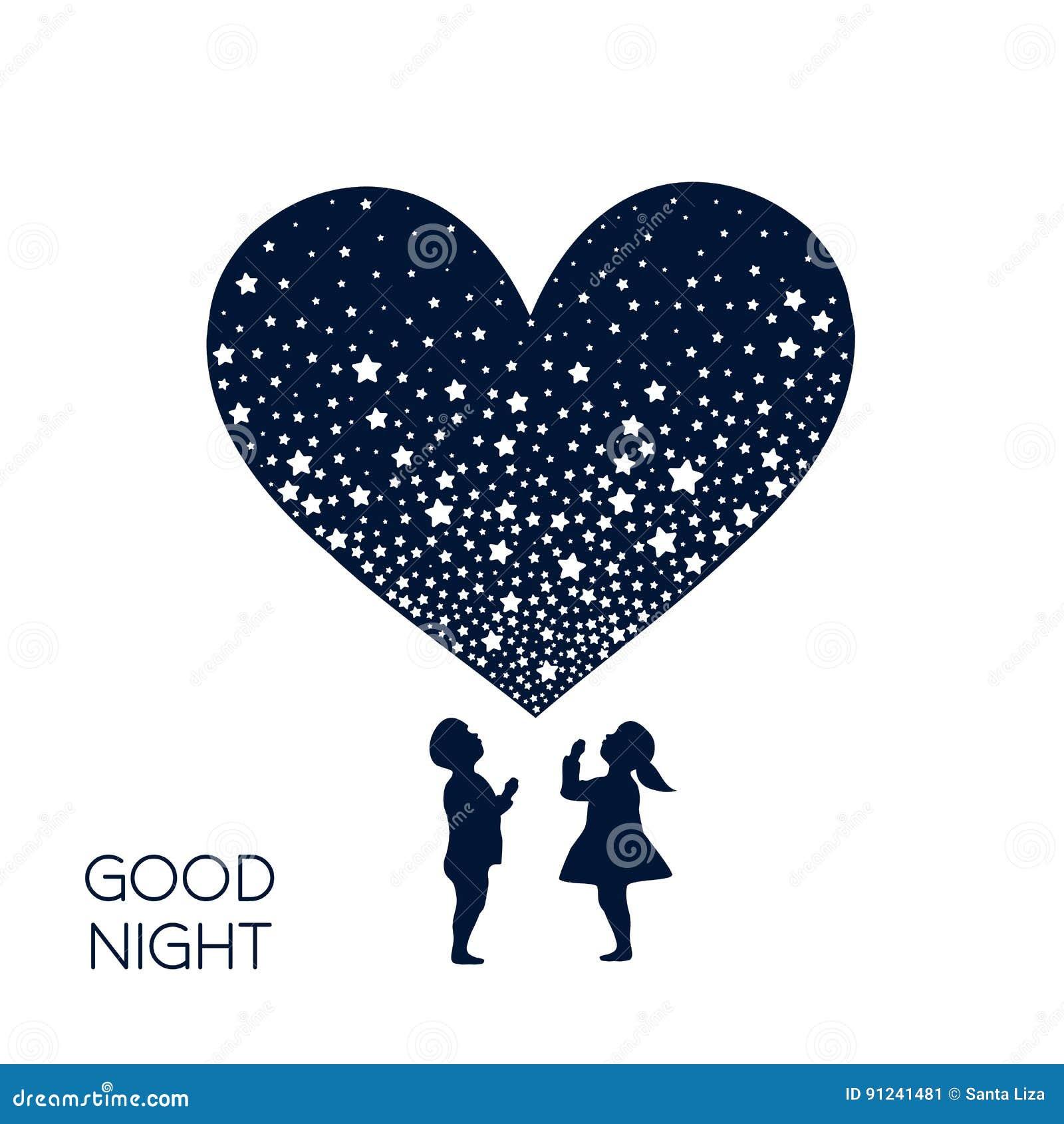 Dreaming Boy And Girl Stock Illustration Illustration Of