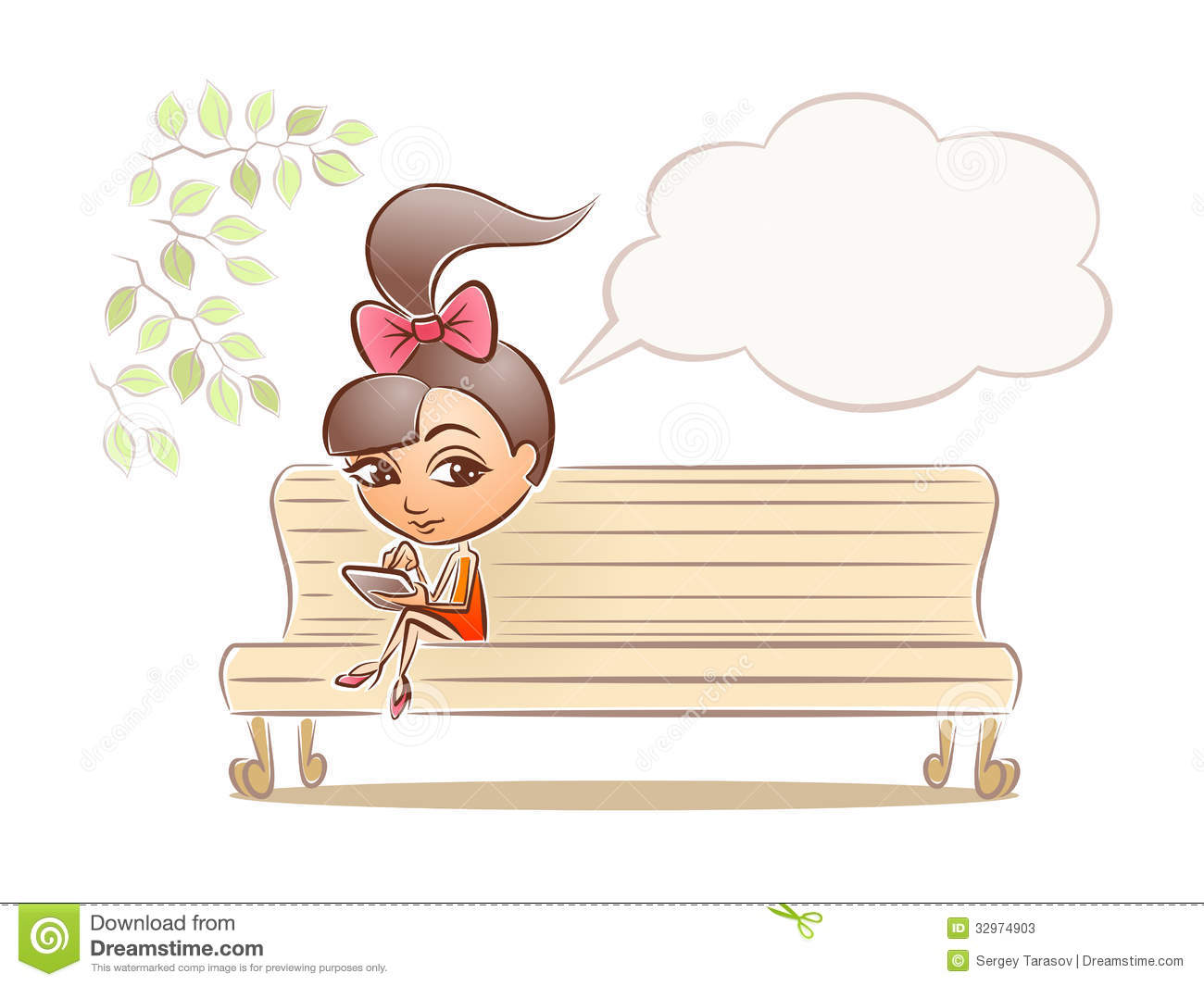 Little Girl Sitting And Drawing Stock Photo Image 53351702 ...
