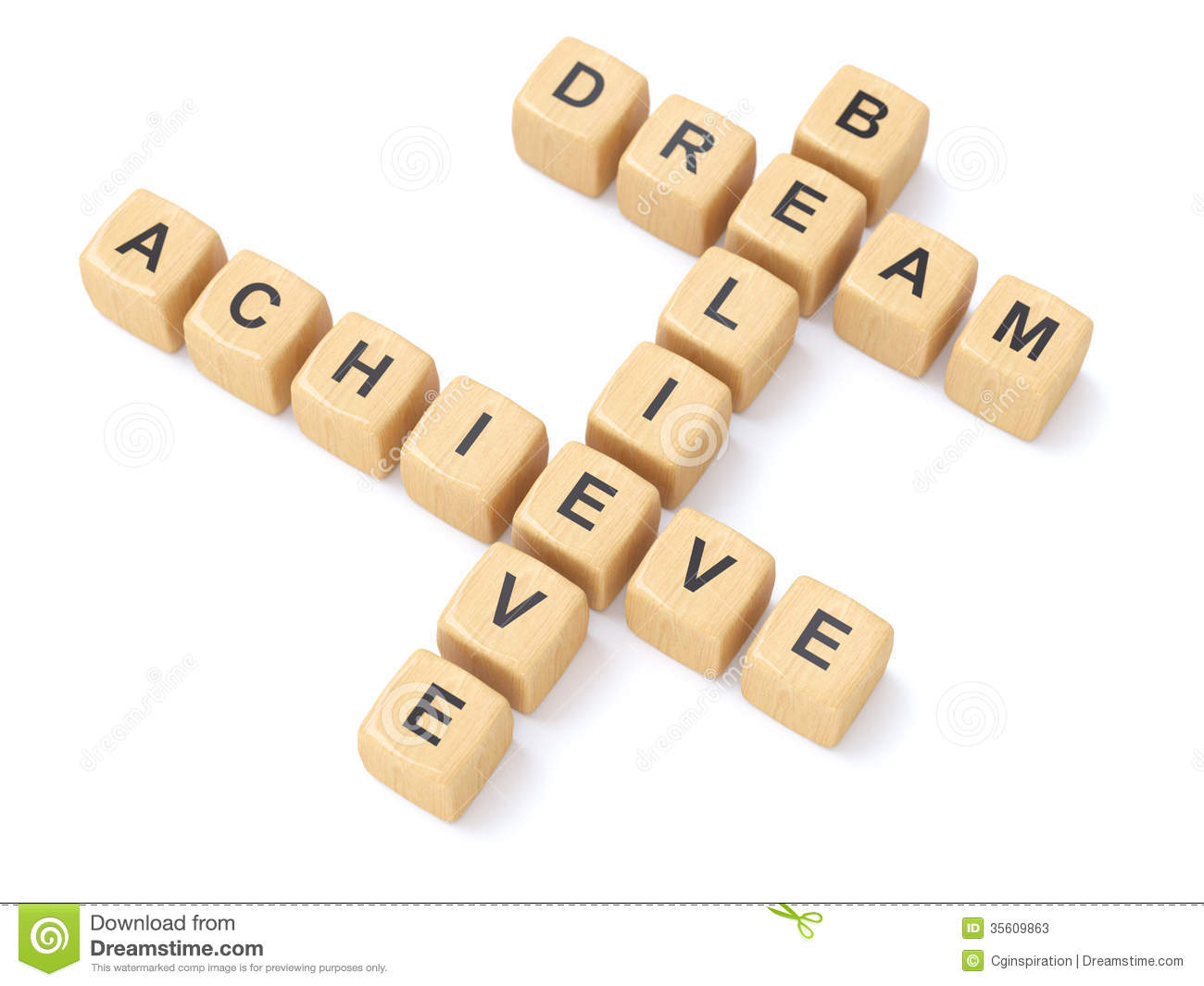 Dreams,believe And Achieve Stock Photos - Image: 35609863
