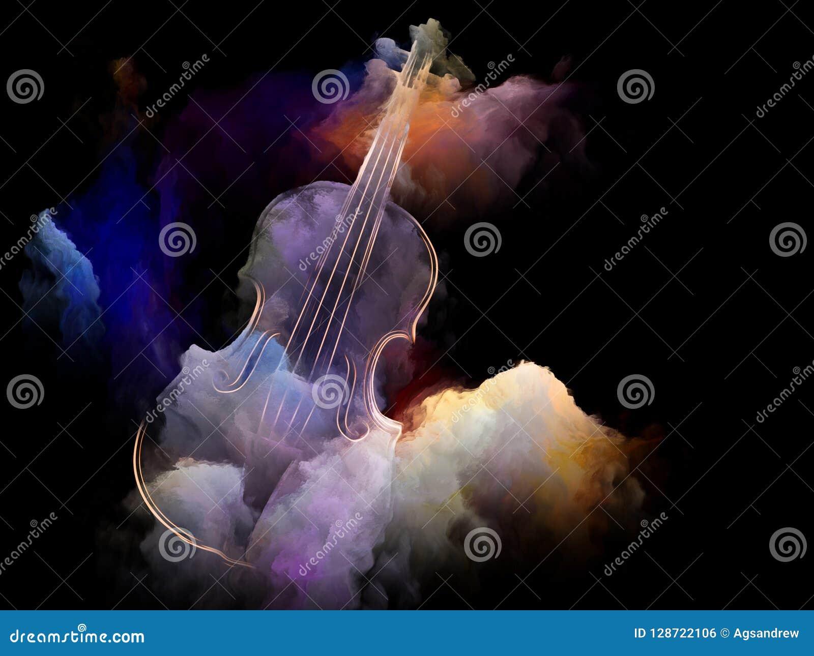 Dreams of Old Violin stock illustration  Illustration of
