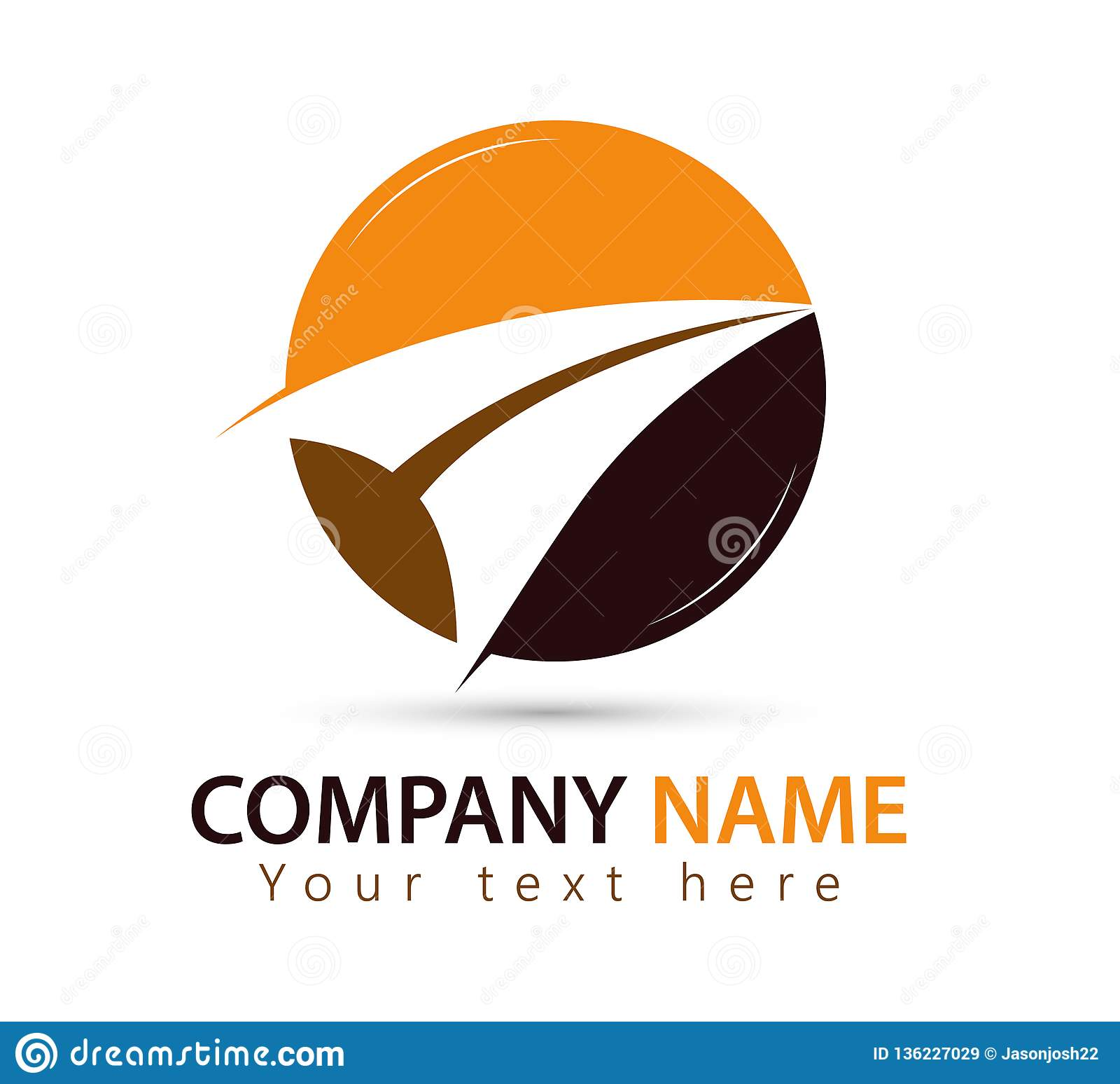 Marketing logo Arrow symbol logo design element