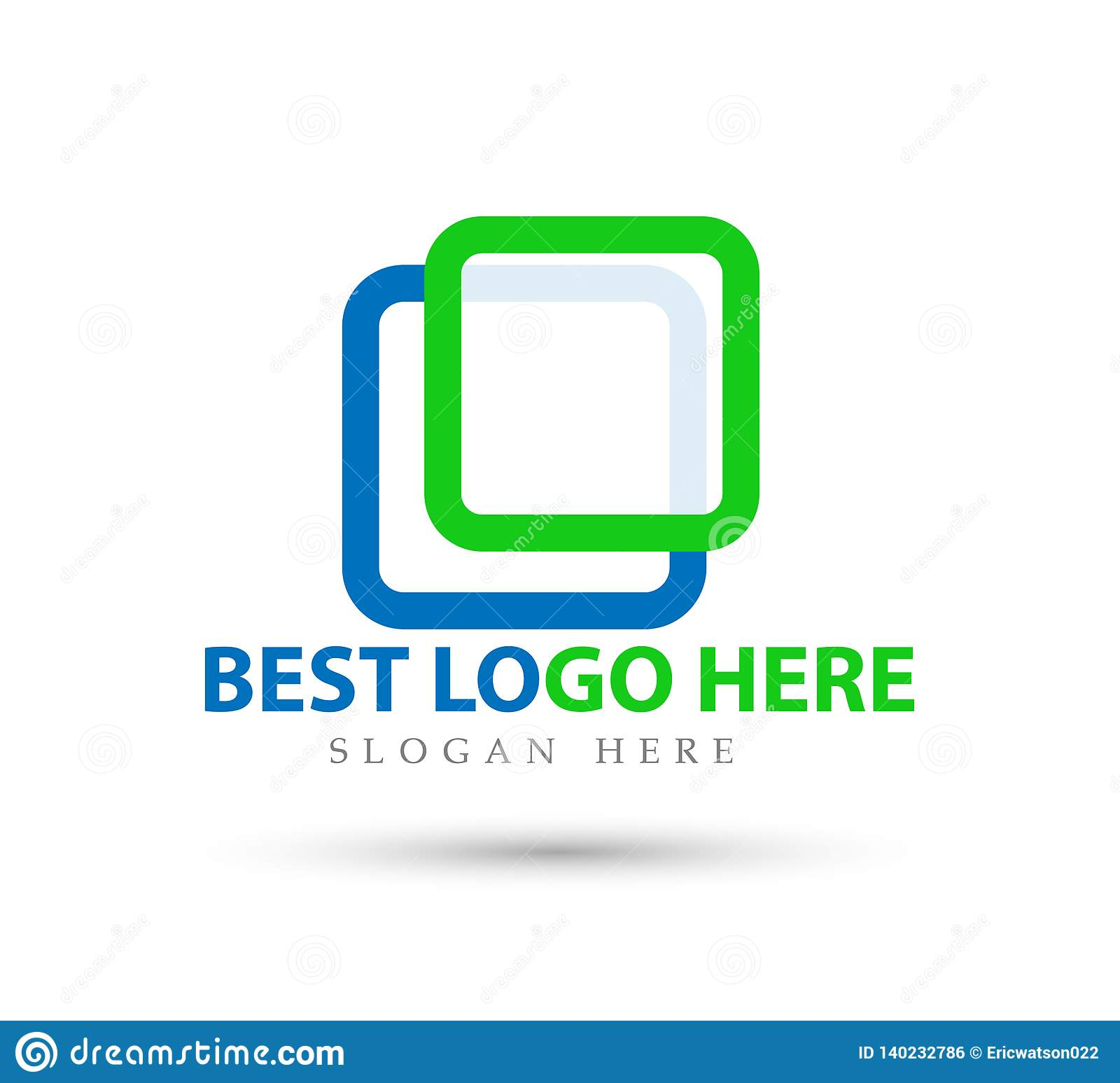 Abstract logo for business company. new trendy Industry, finance, bank logotype idea icon