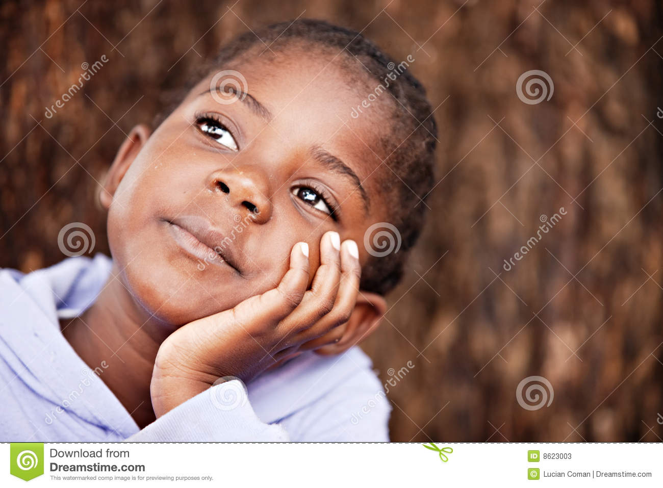 Dreamy African Child Stock Image Image Of Expression
