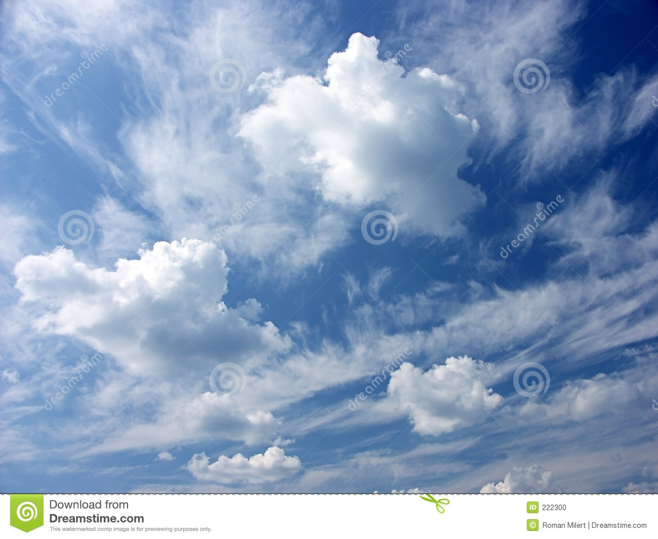 Dreamy Clouds Stock Photo - Image: 222300