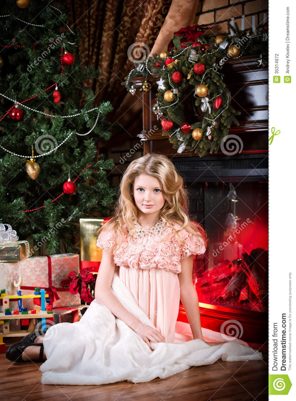 dreamy girl stock photography image 35314972