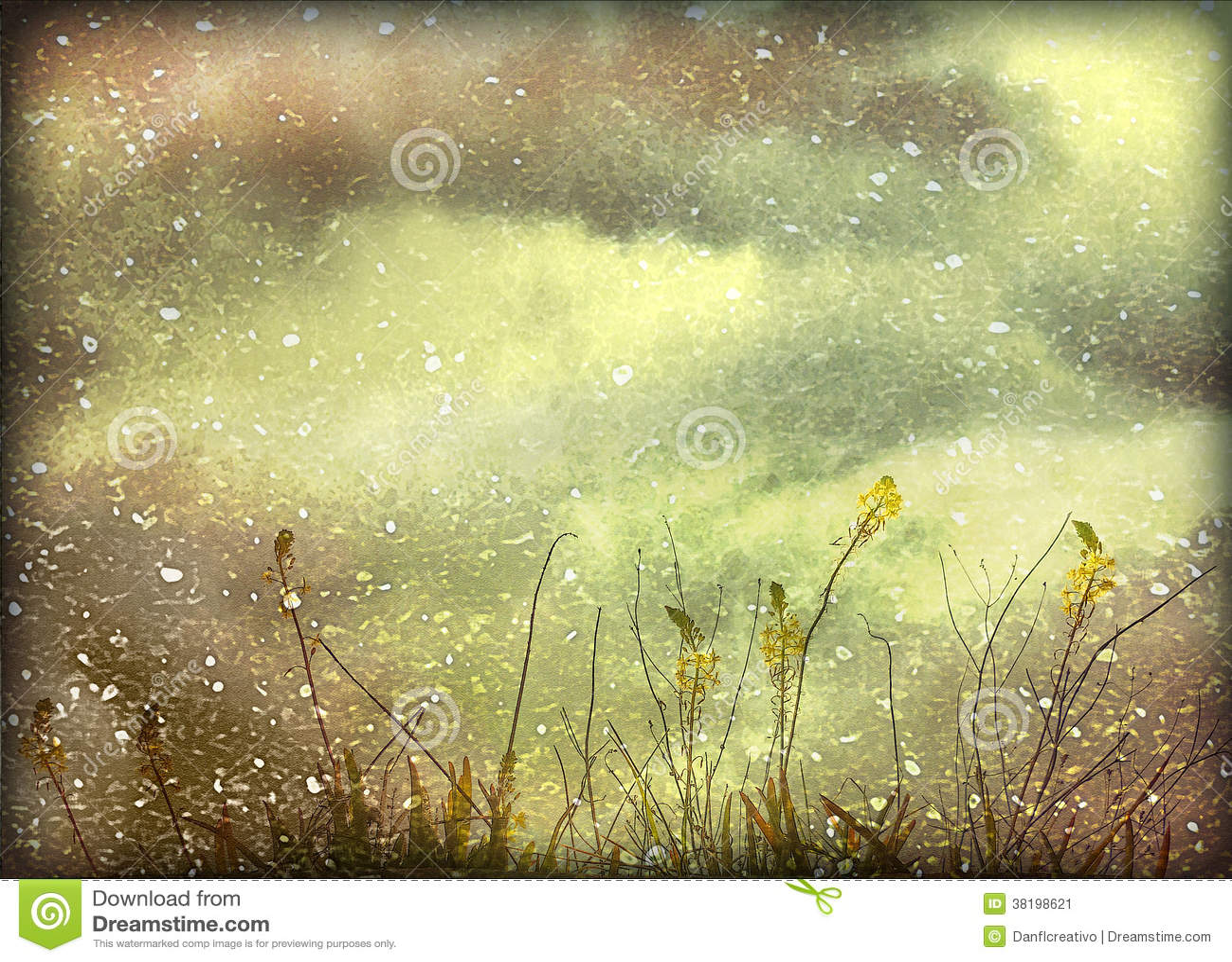 dreamy grunge nature background stock illustration - illustration of