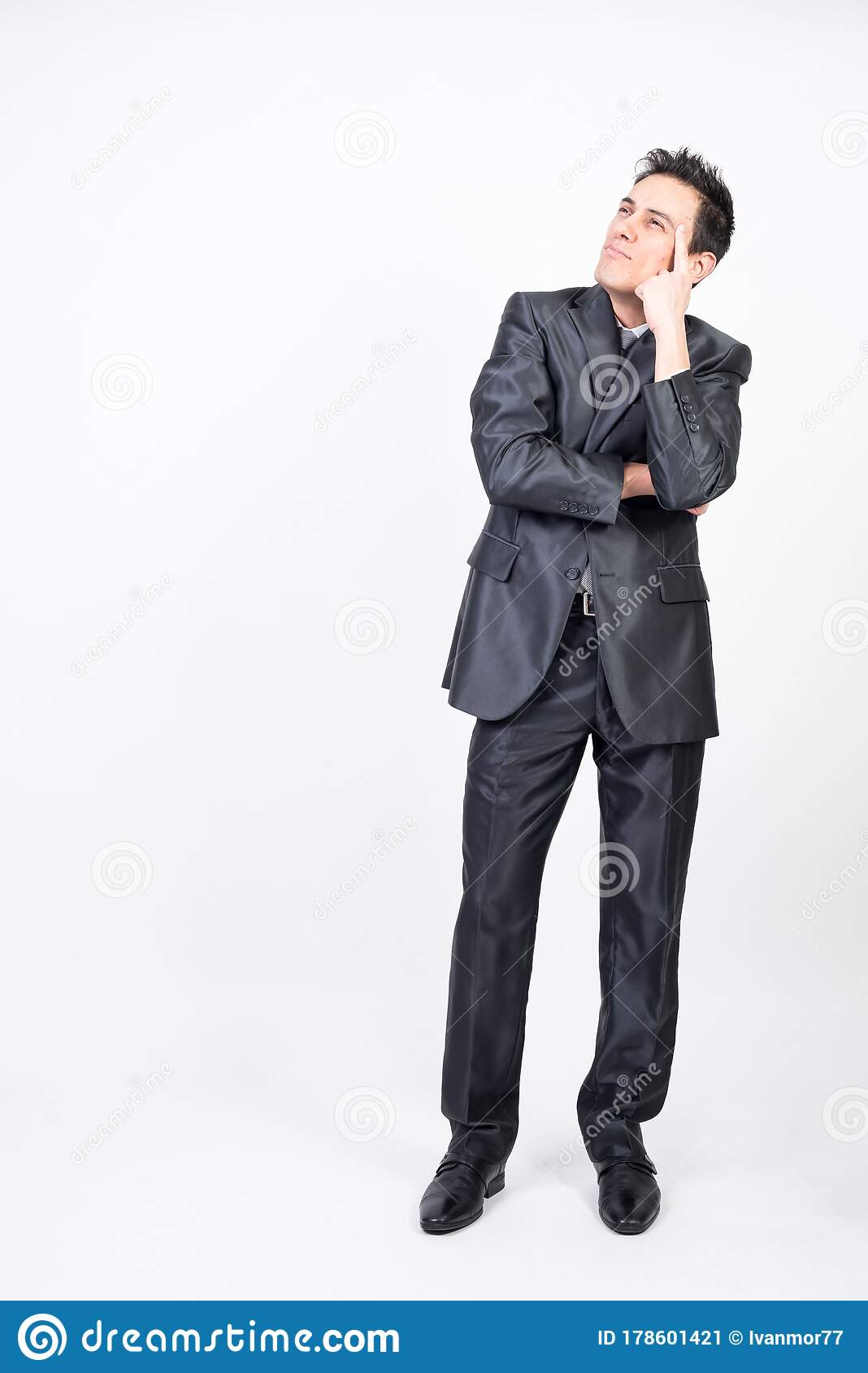 Dreamy man in suit stock image. Image of space, abstracted ...