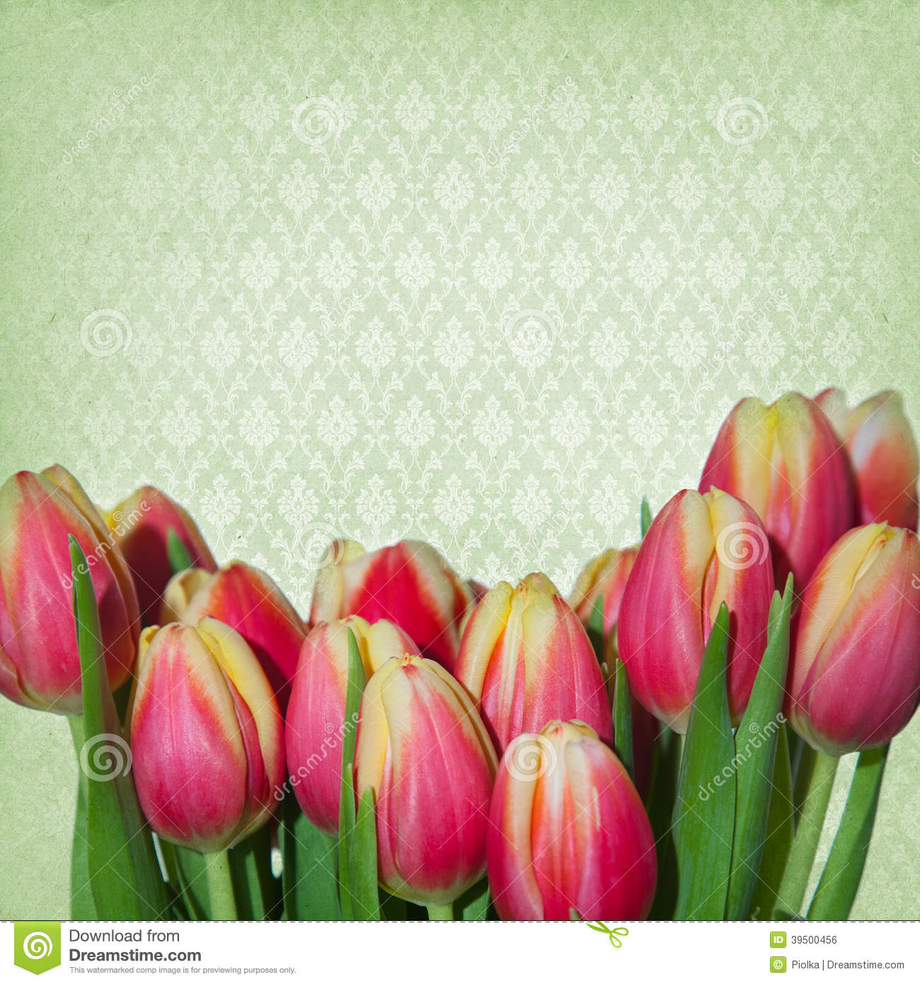 Dreamy springflowers background