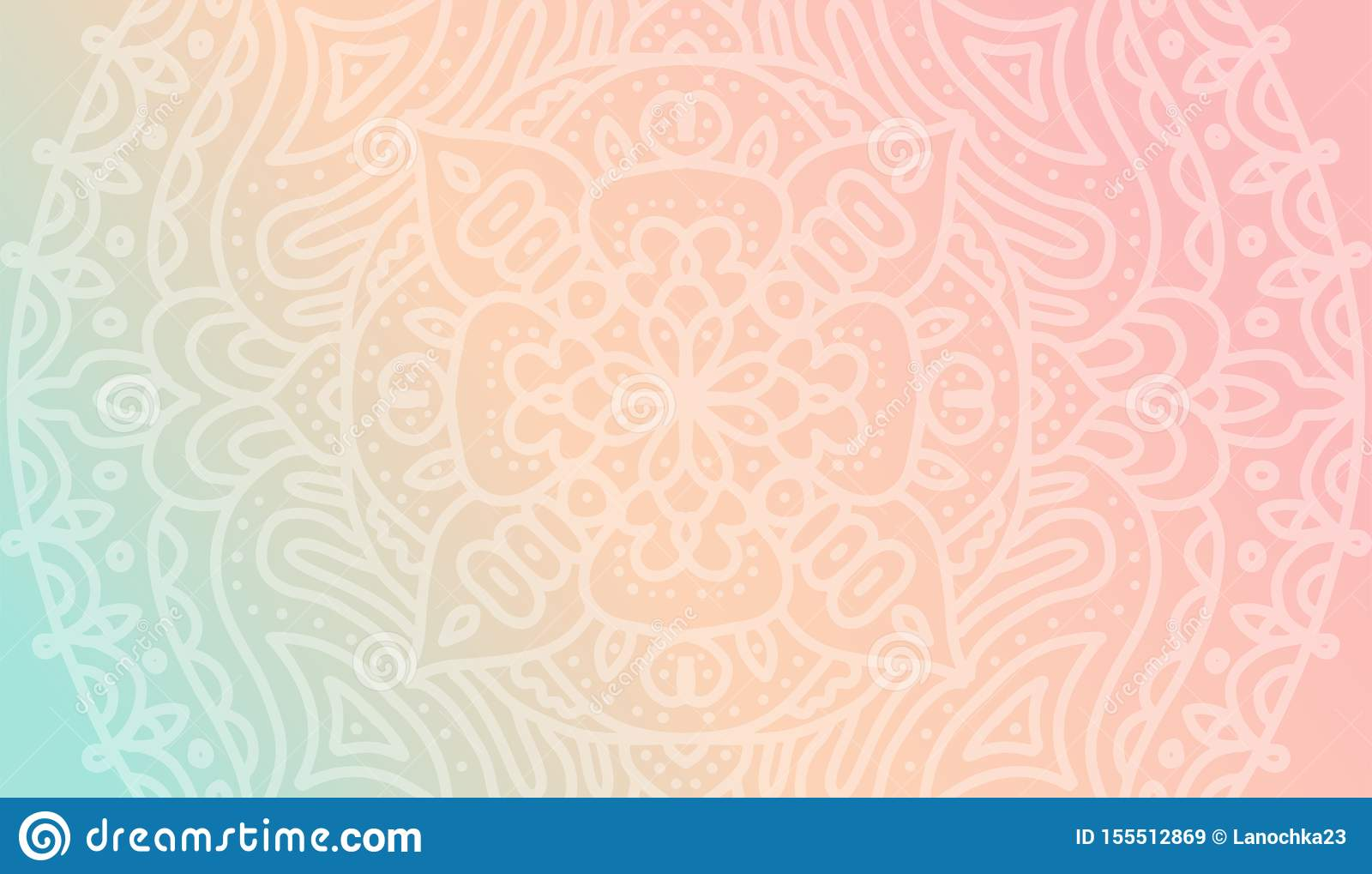 Dreamy Tender Gradient Wallpaper With Mandala Pattern Vector Horizontal Background For Meditation Poster Banner For Yoga School Stock Illustration Illustration Of Mandala Intricate 155512869