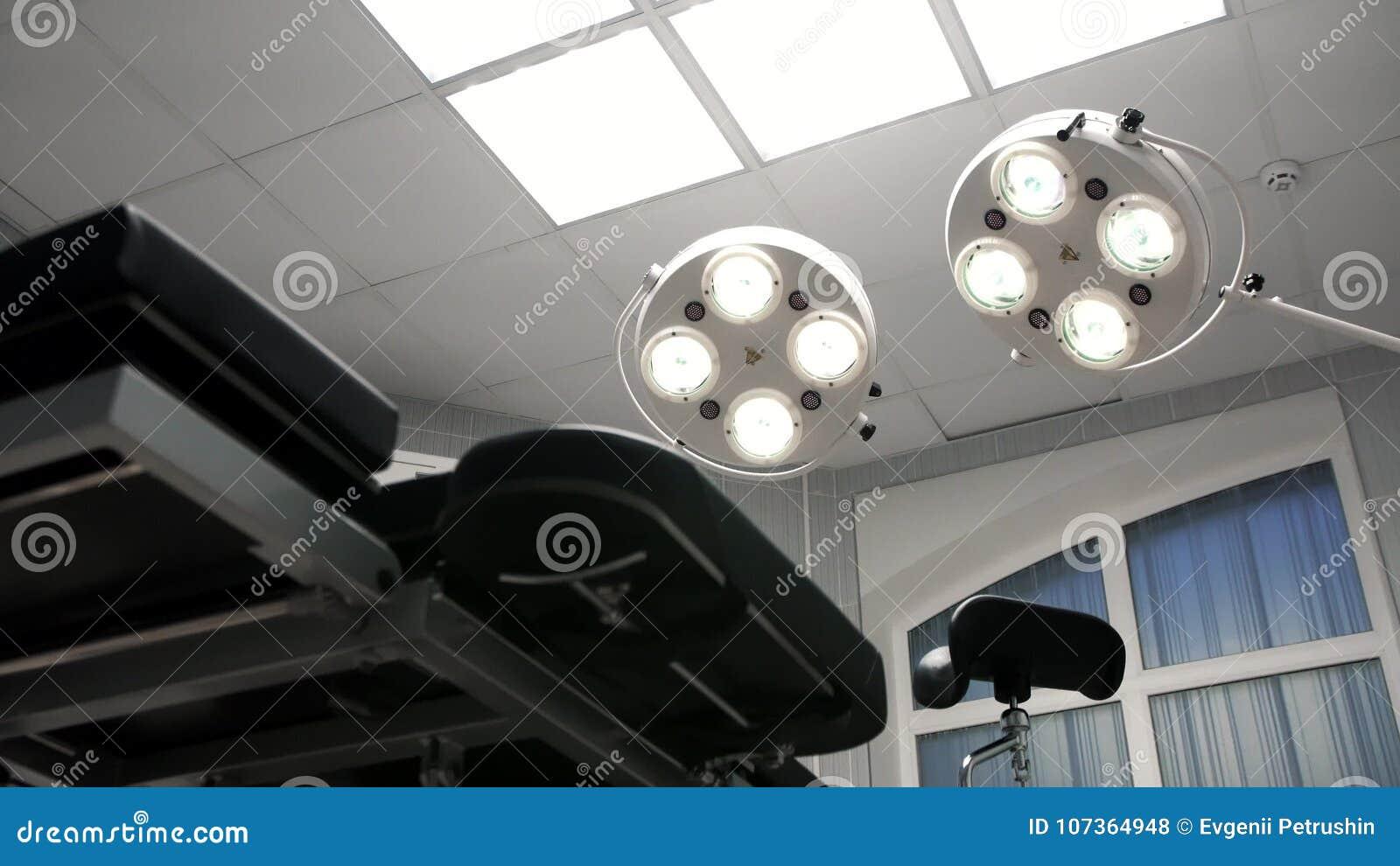 Drehenlichter an im Operationsraum