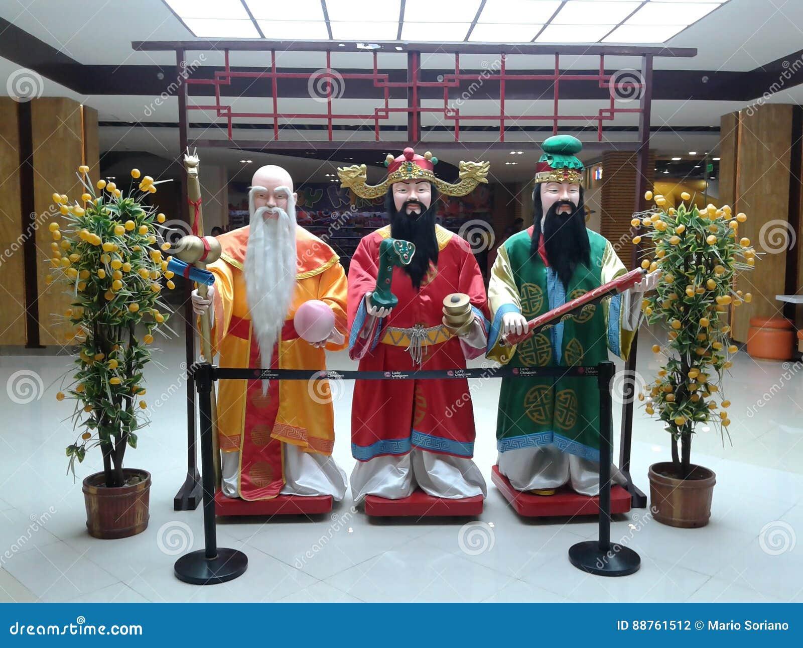 Drei chinesische weise Männer