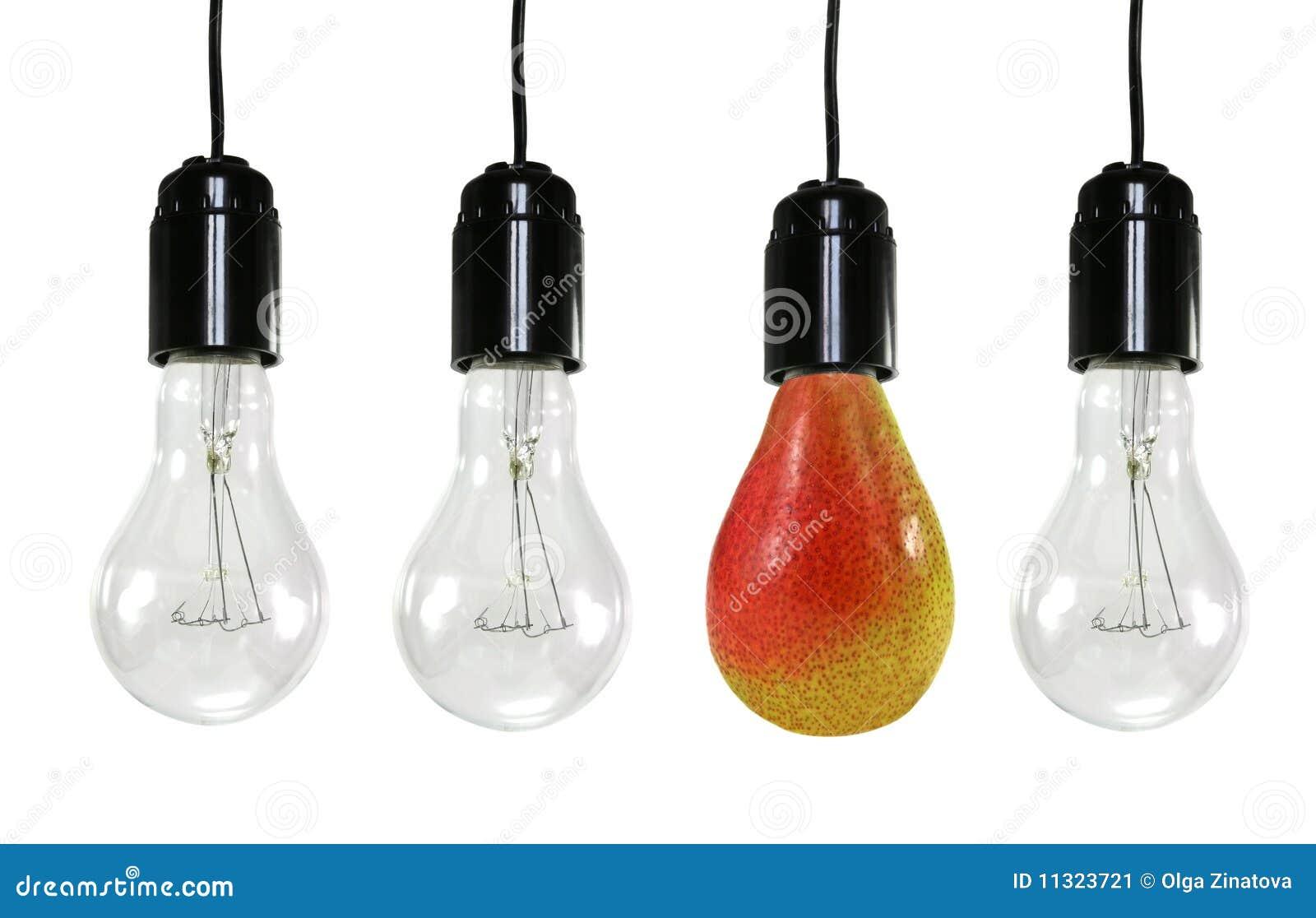 Drei elektrische Fühler und eine Birne