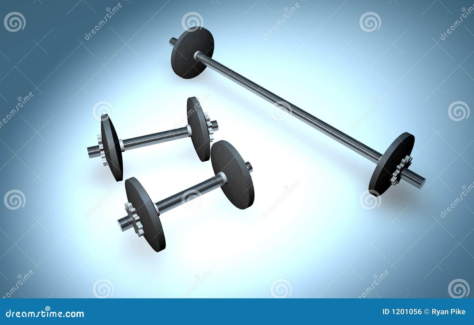 Drei Gewichte