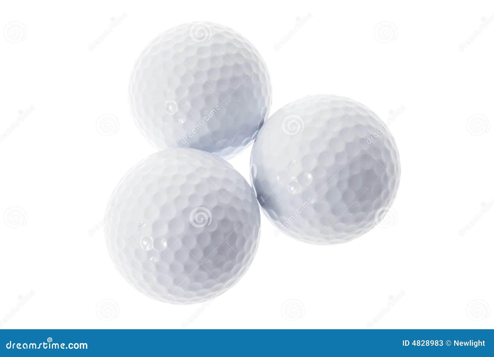 Drei Golfbälle