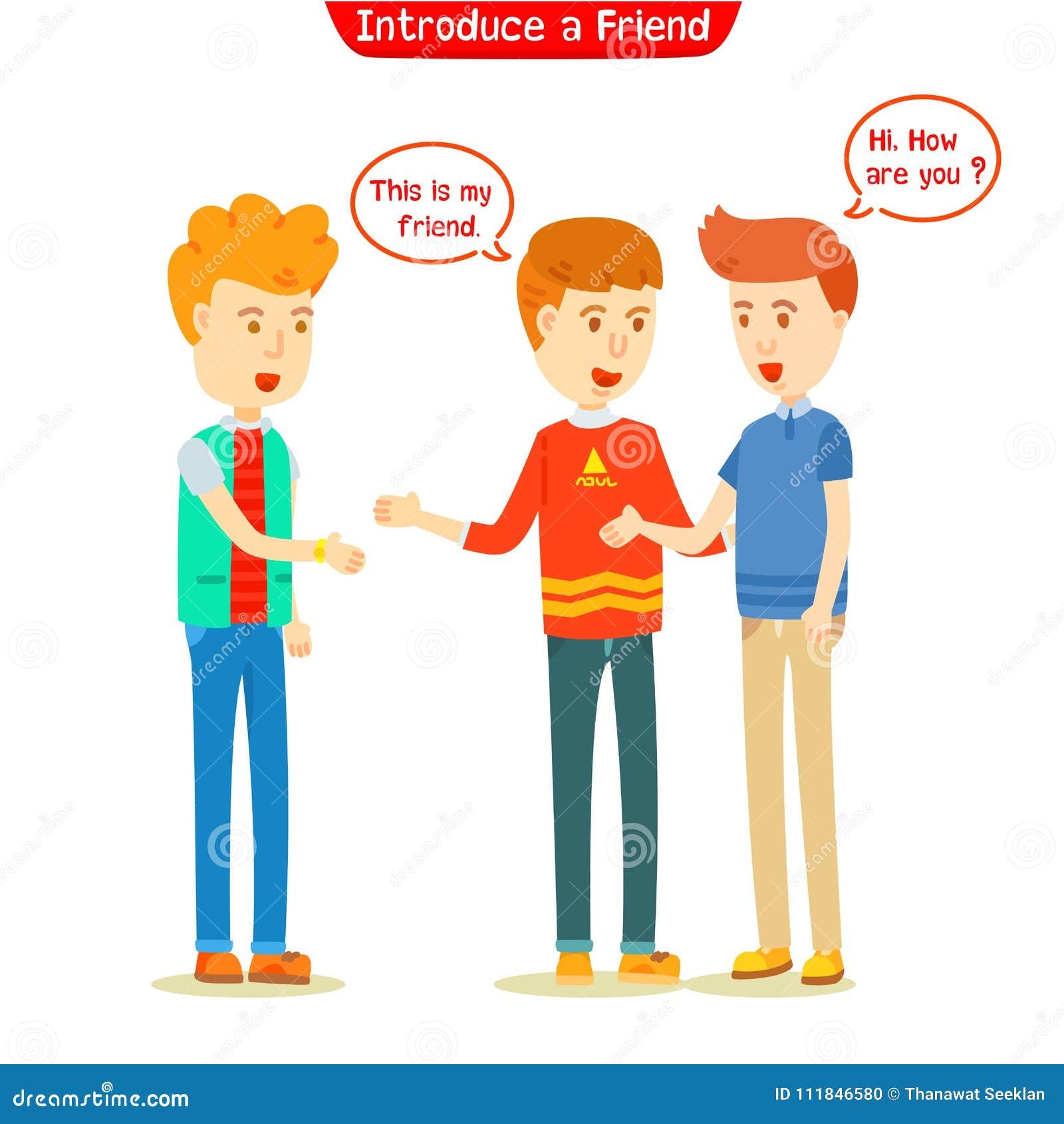 Drei Kerle, die über neuen Freund sprechen