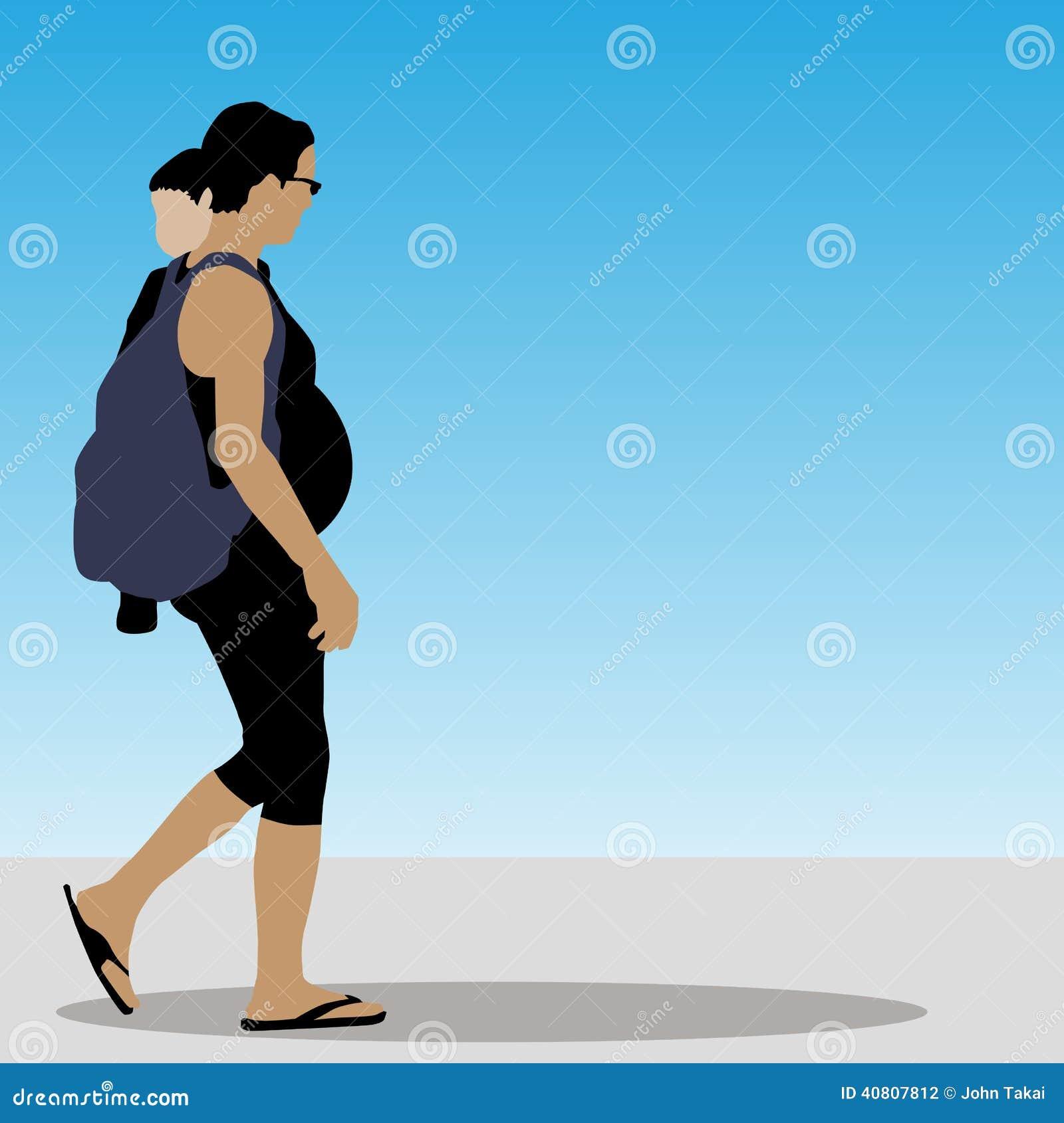 Drei Mädchen, die weg auf eine Promenade gehen