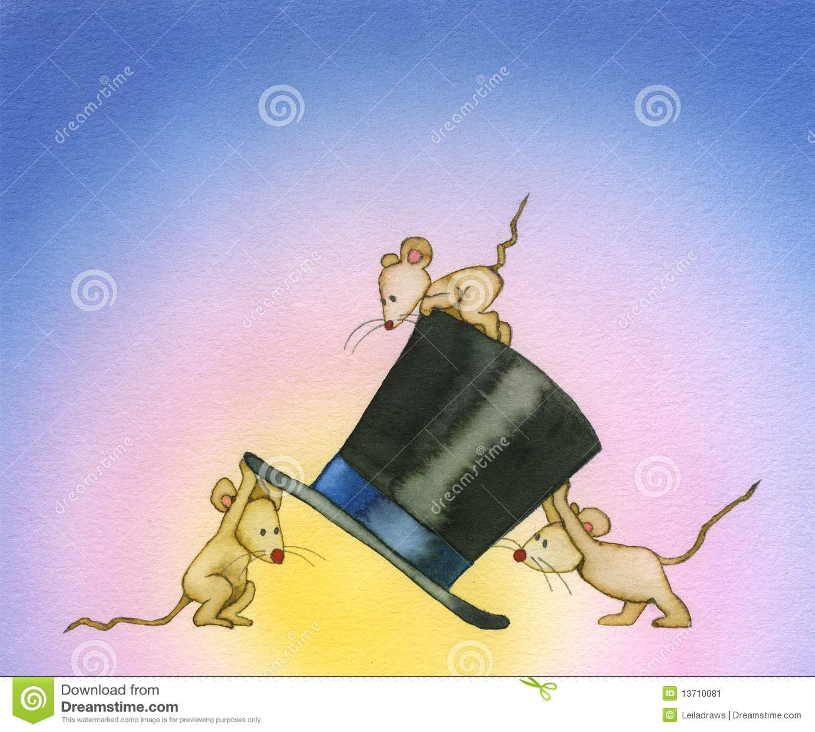Drei Mäuse stock abbildung. Illustration von neugier - 13710081