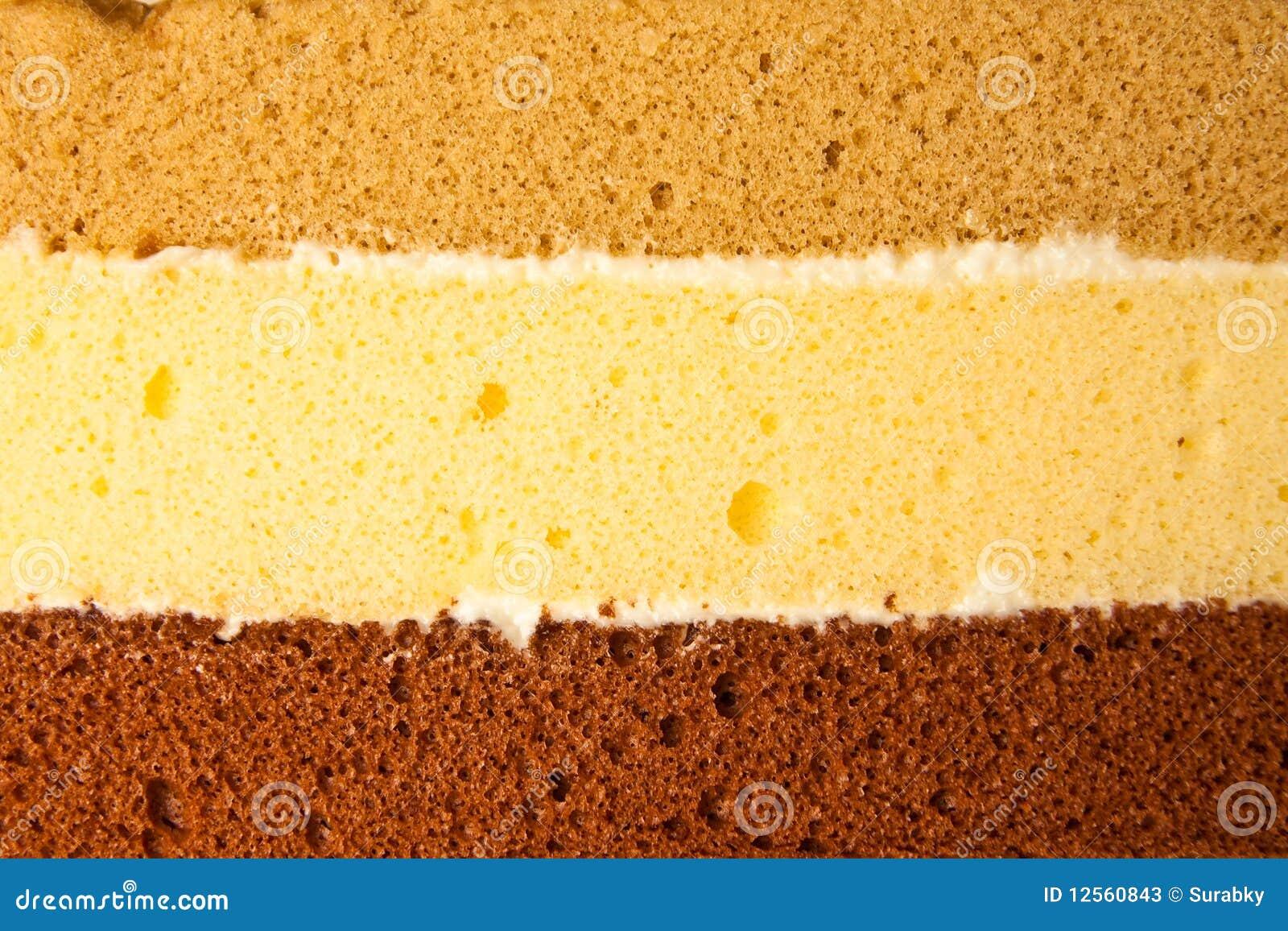 Drei Schichten Kuchen