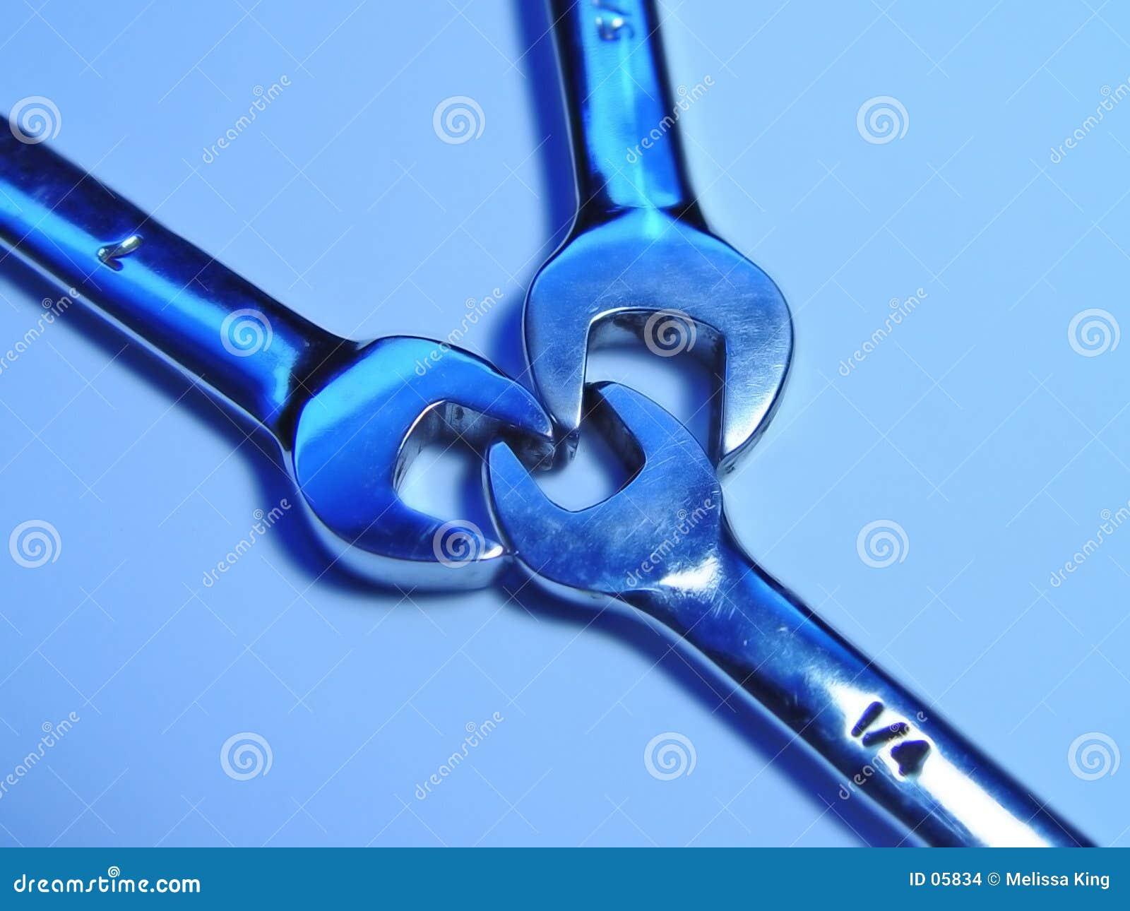 Drei Schlüssel zusammen