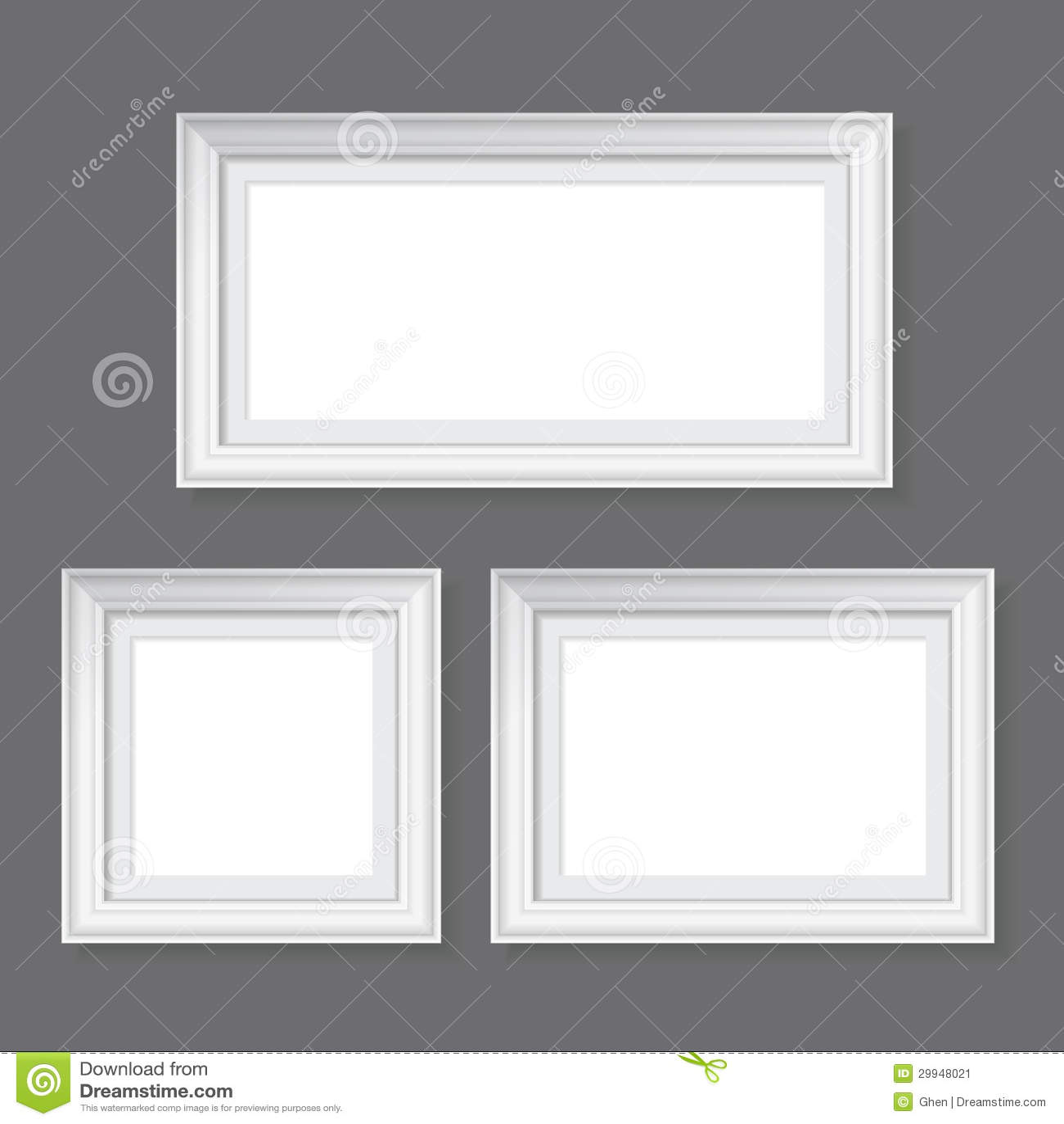 Weiße Rahmen auf Grau vektor abbildung. Illustration von antike ...