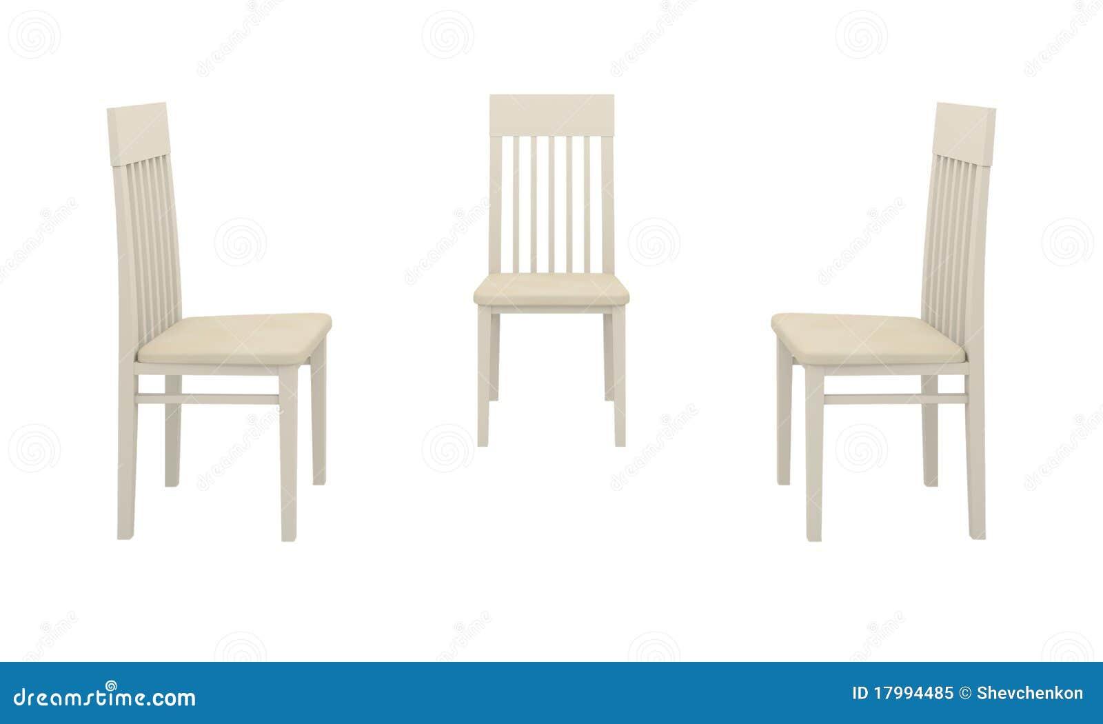 Unglaublich Weisse Stühle Galerie Von Pattern Drei Weiße Stühle Stock Abbildung. Tration