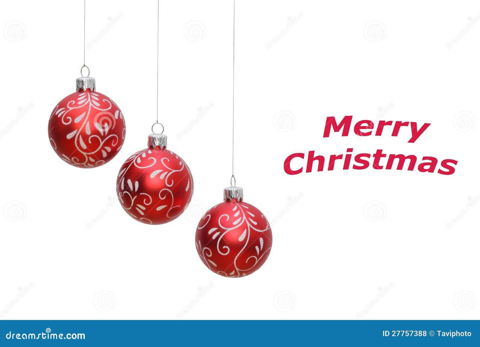 Drei weihnachtskugeln getrennt auf wei stockfoto bild - Bilder weihnachtskugeln ...