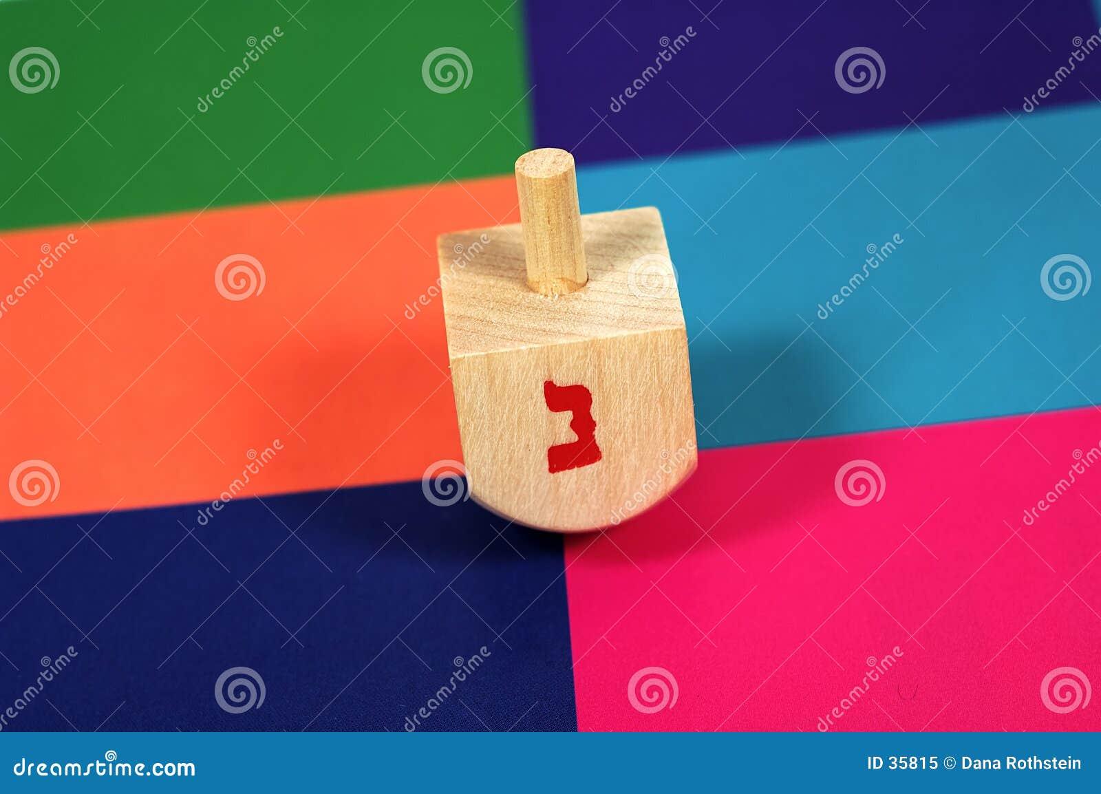 Dreidel de madeira