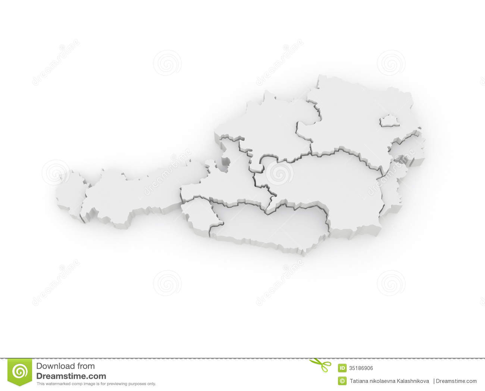 3d Karte Osterreich.Dreidimensionale Karte Von Osterreich Stock Abbildung