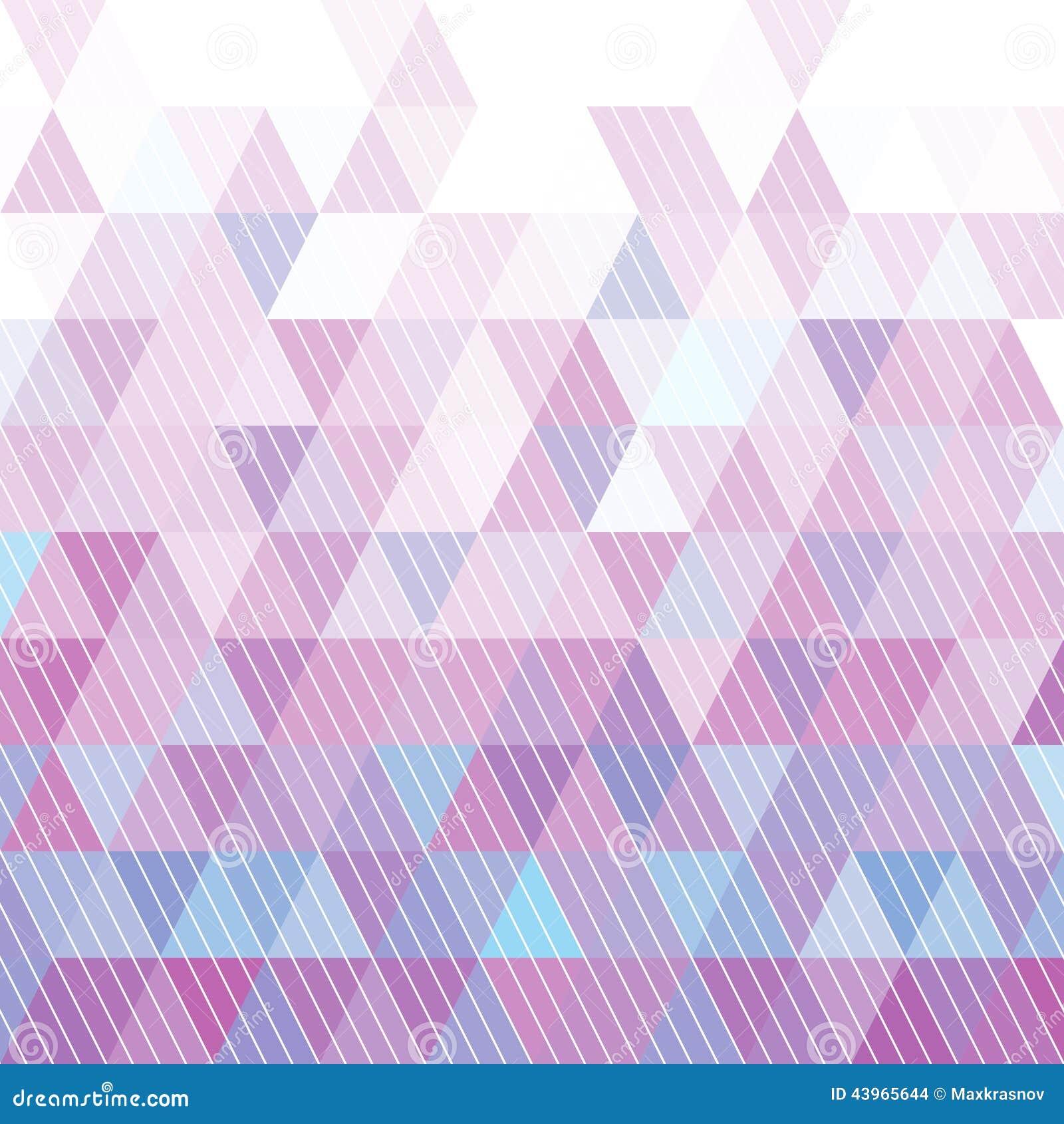 Dreieck-Muster Vektor Abbildung - Bild: 43965644
