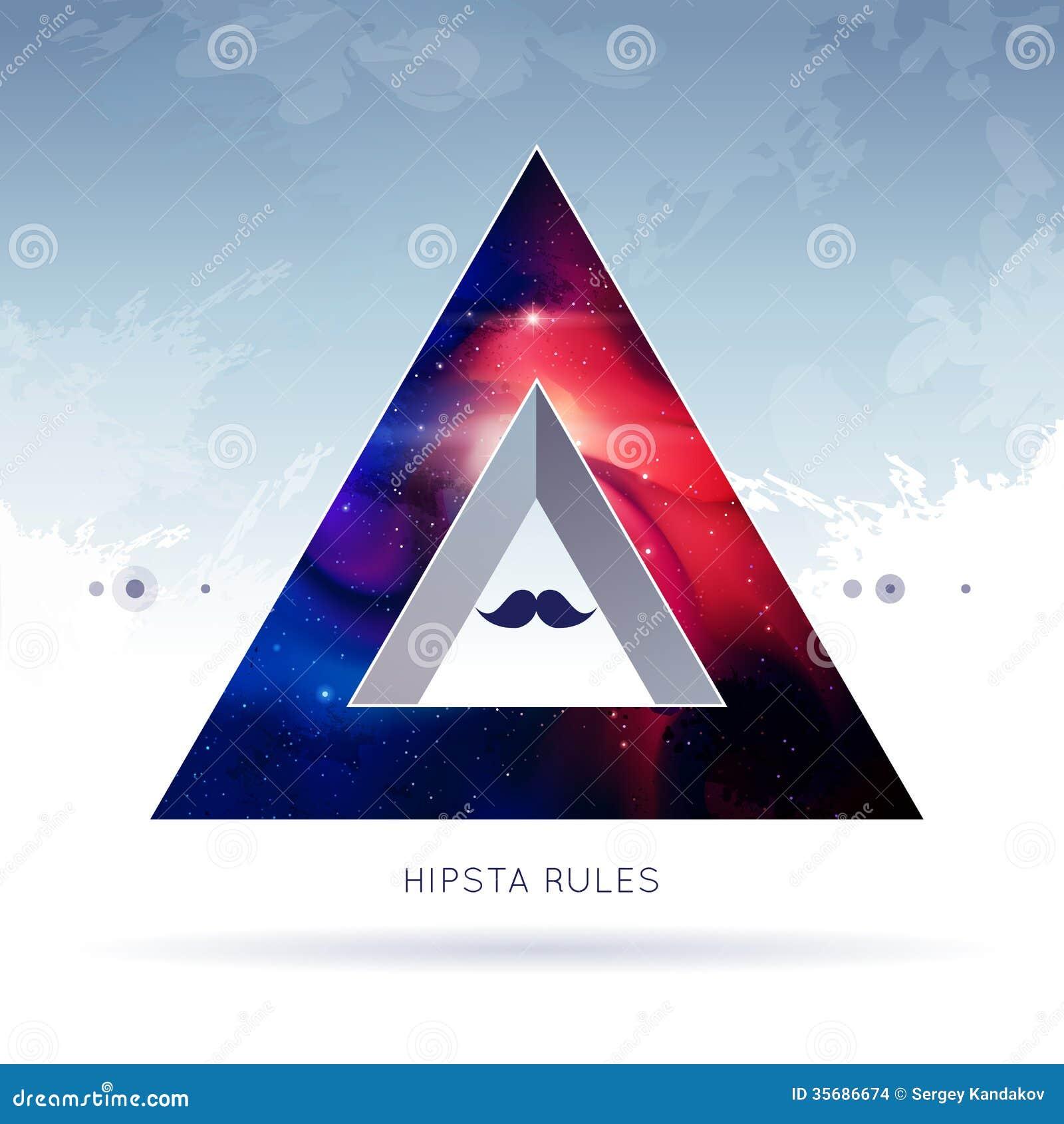 Dreieckhippie-Hintergrund