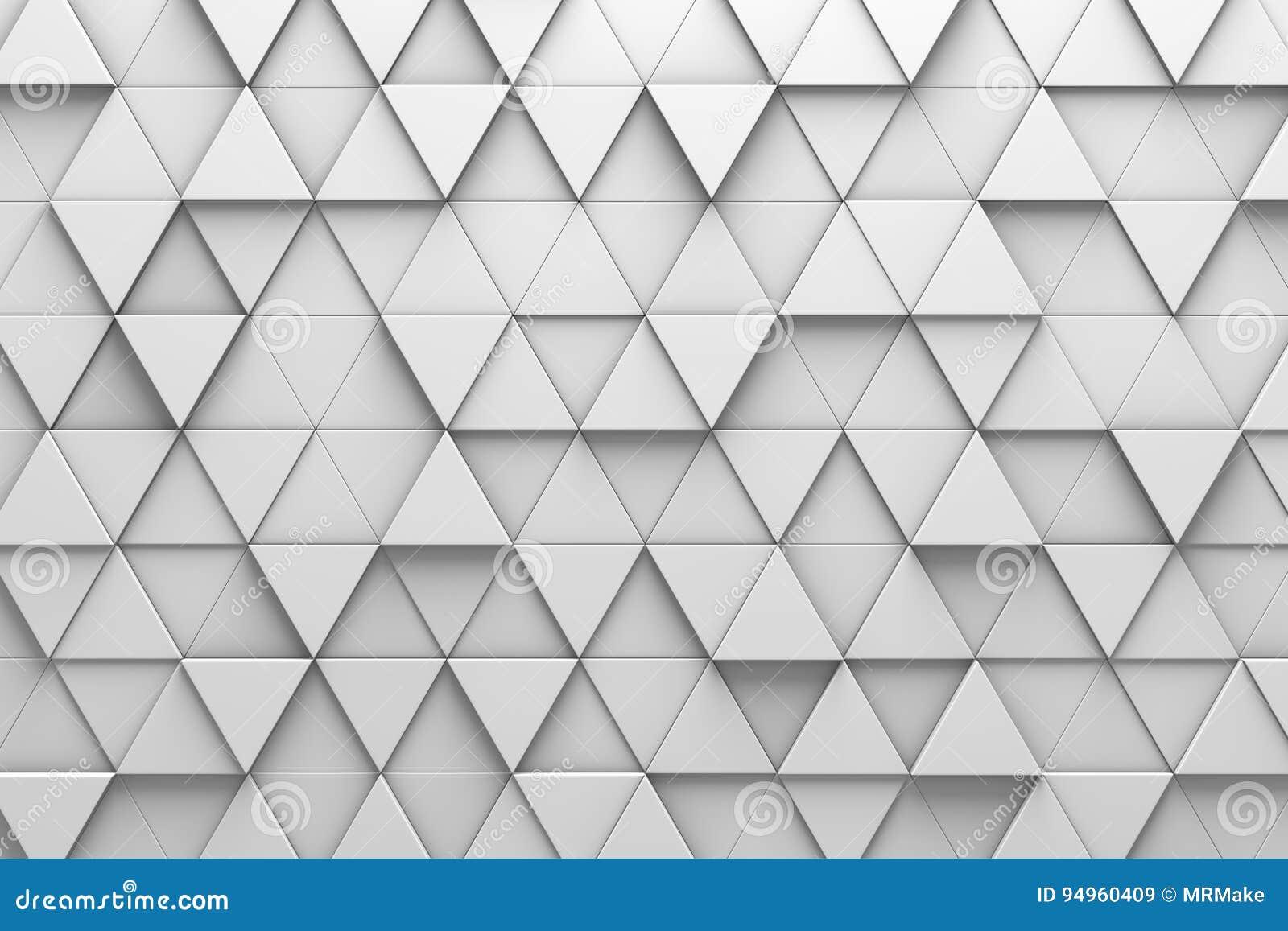 Dreieckige muster wand der fliesen 3d stock abbildung illustration von gelegentlich - Muster an wand ...
