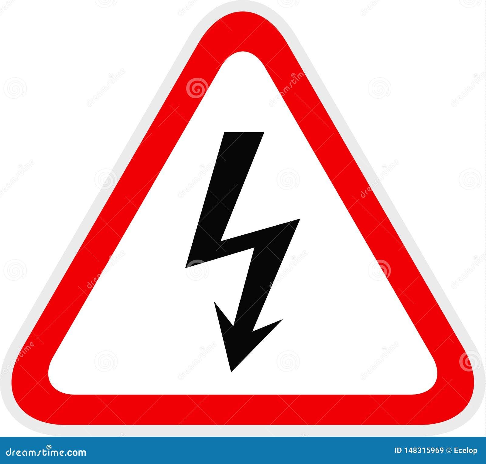 Dreieckiges gelbes warnendes Gefahrensymbol