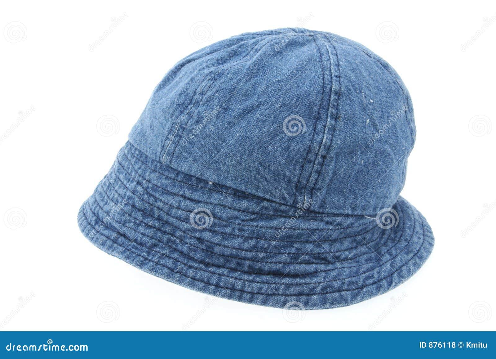 Drelichowy biały kapelusz