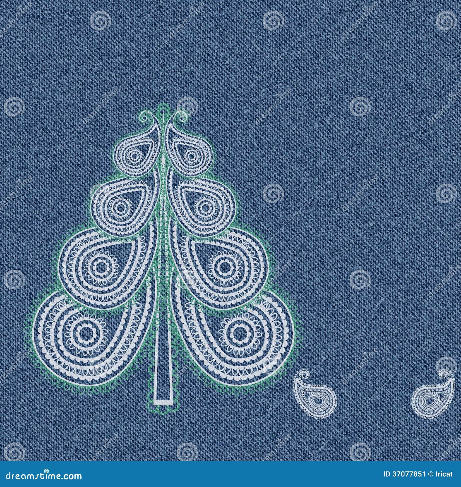 Download Drelichowy Paisley drzewo ilustracja wektor. Ilustracja złożonej z arte - 37077851
