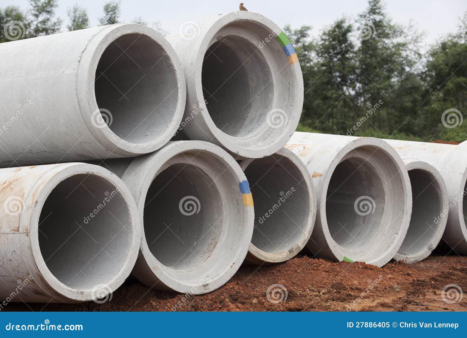 Drenaje concreto del agua de los tubos - Tubos para agua ...