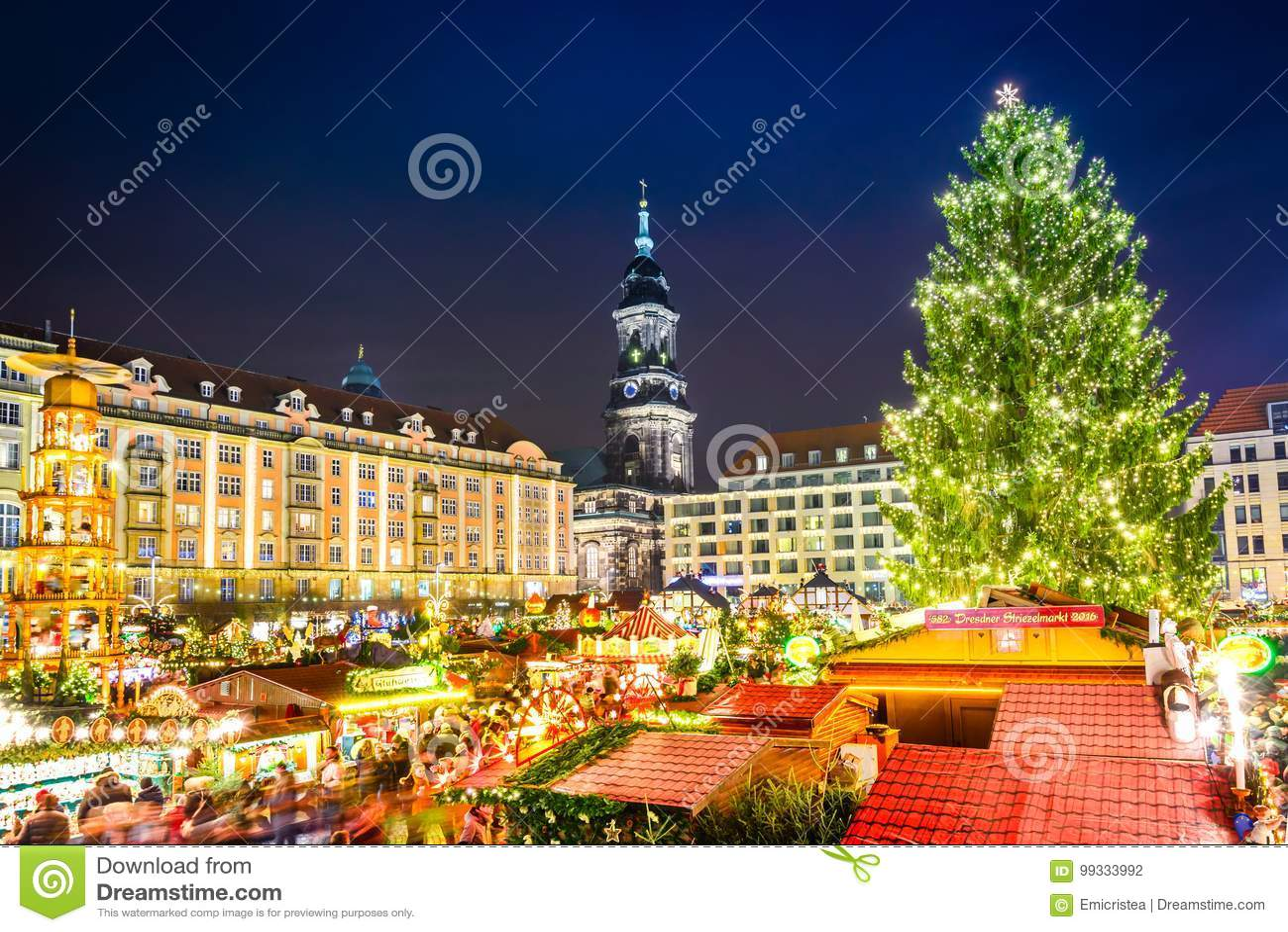 Dresden Weihnachten.Dresden Deutschland Striezelmarkt Auf Weihnachten Stockfoto