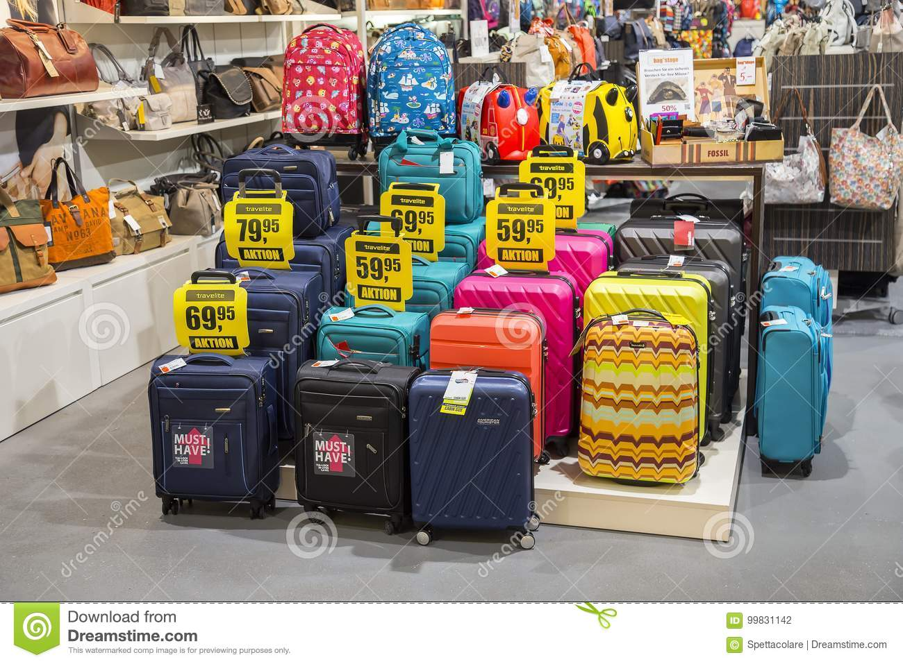 5765cc617227 Different Travel Luggage And Suitcase Store Editorial Photography ...