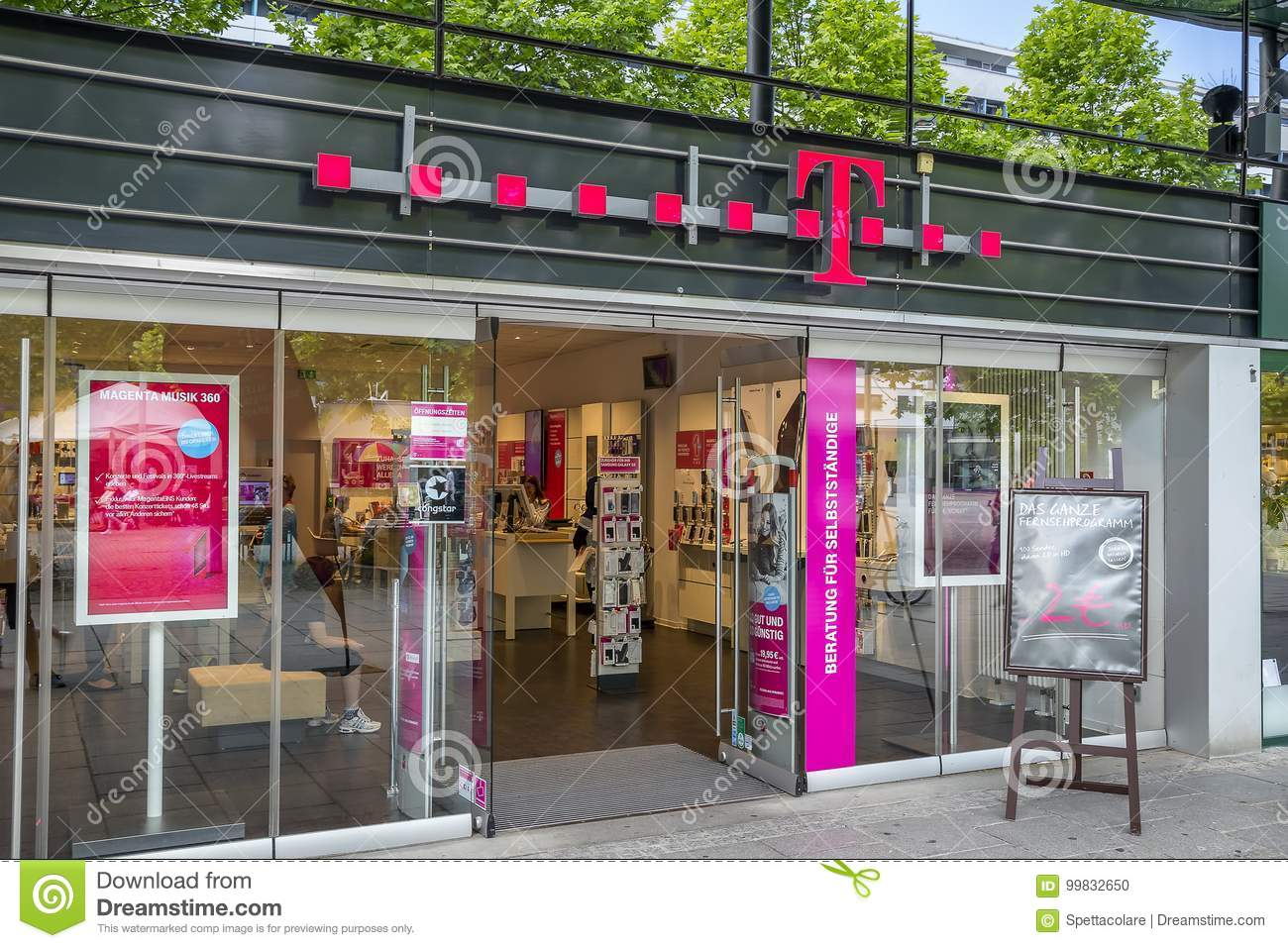T-Mobile store exterior editorial image  Image of logo