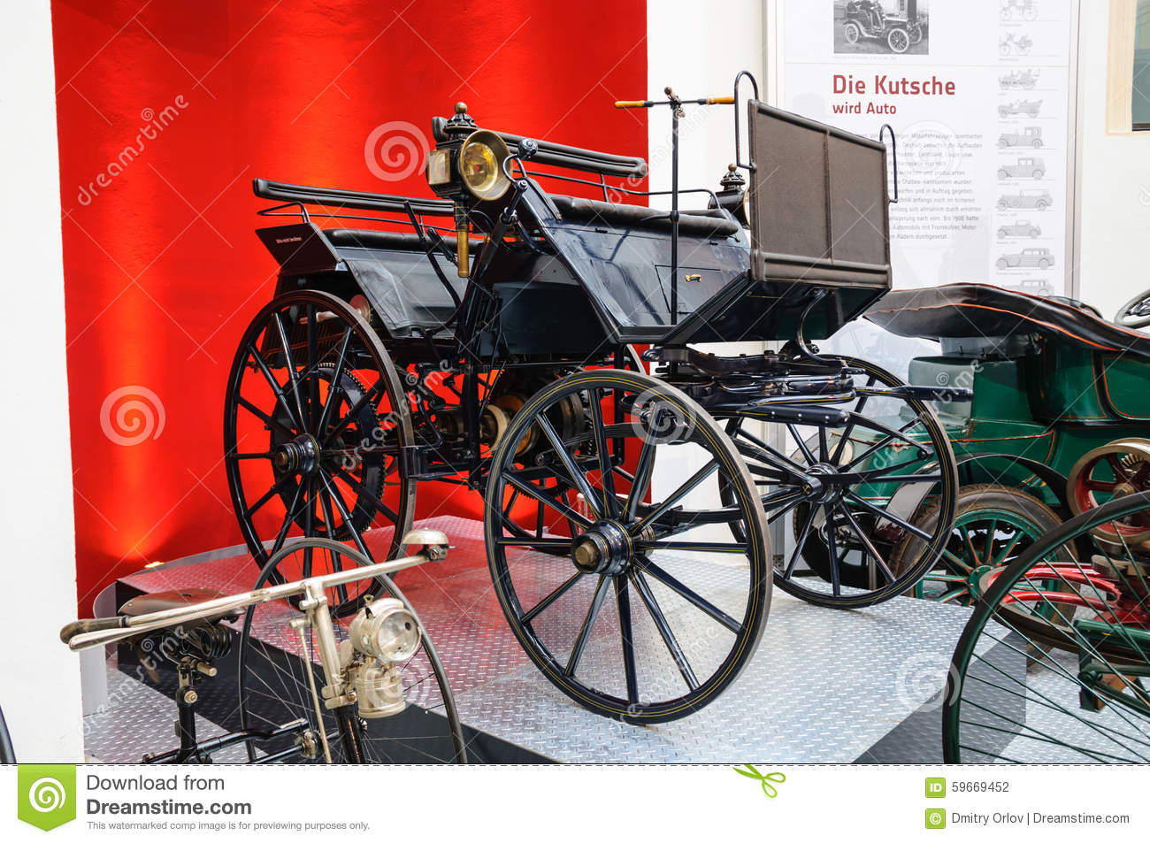 dresden germany mai 2015 daimler motor carriage 1886 in dres editorial photography image. Black Bedroom Furniture Sets. Home Design Ideas