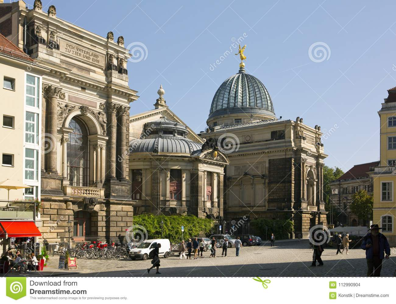 DRESDEN, GERMANY - SEPTEMBER 17: People walk in the center of Old town