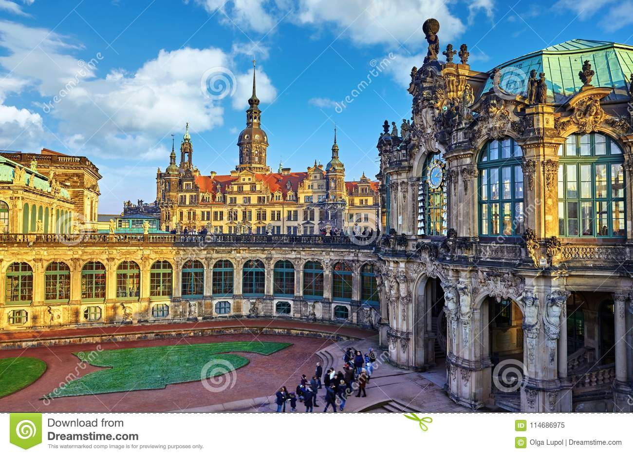 Dresden Germany Zwinger Palace Stock Image Image Of Elbe Castle 114686975