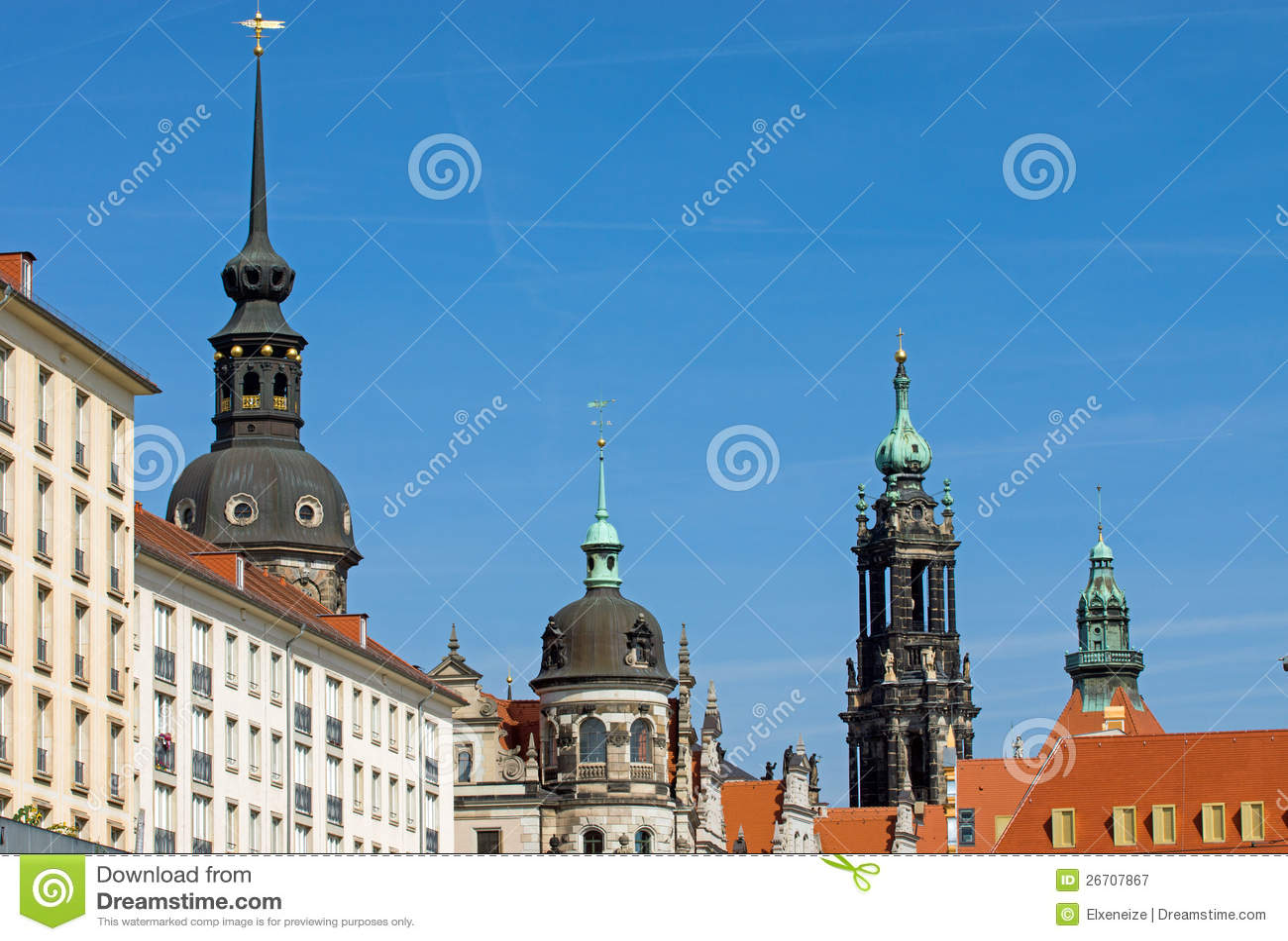 Dresden historyczna linia horyzontu