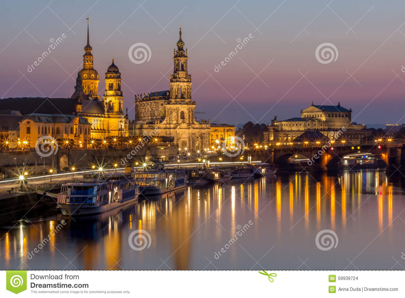 dresden night cityscape bruehl terrace hofkirche church royal palace semper opera stock photo. Black Bedroom Furniture Sets. Home Design Ideas