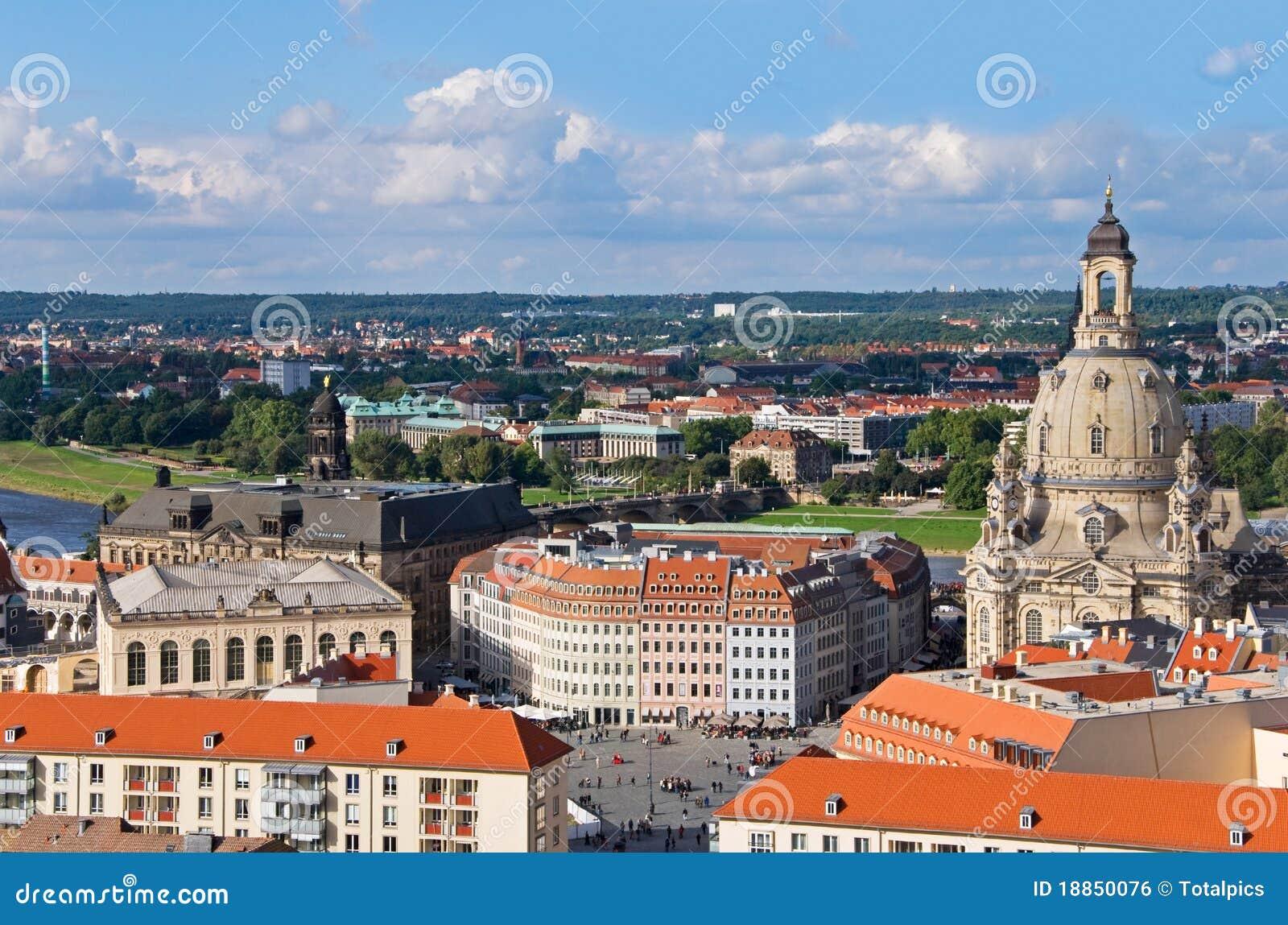Dresden powietrzny widok
