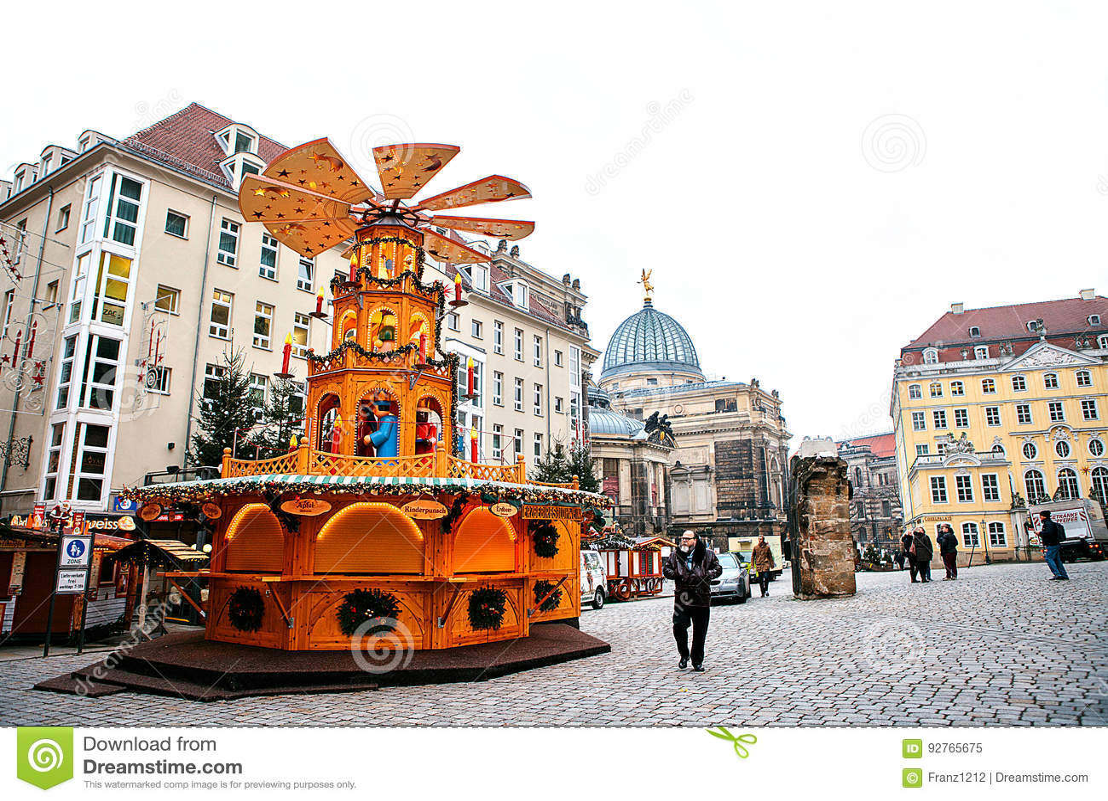 Fira Dresden dresden tyskland december 19 2016 julmarknad dresden germany fira