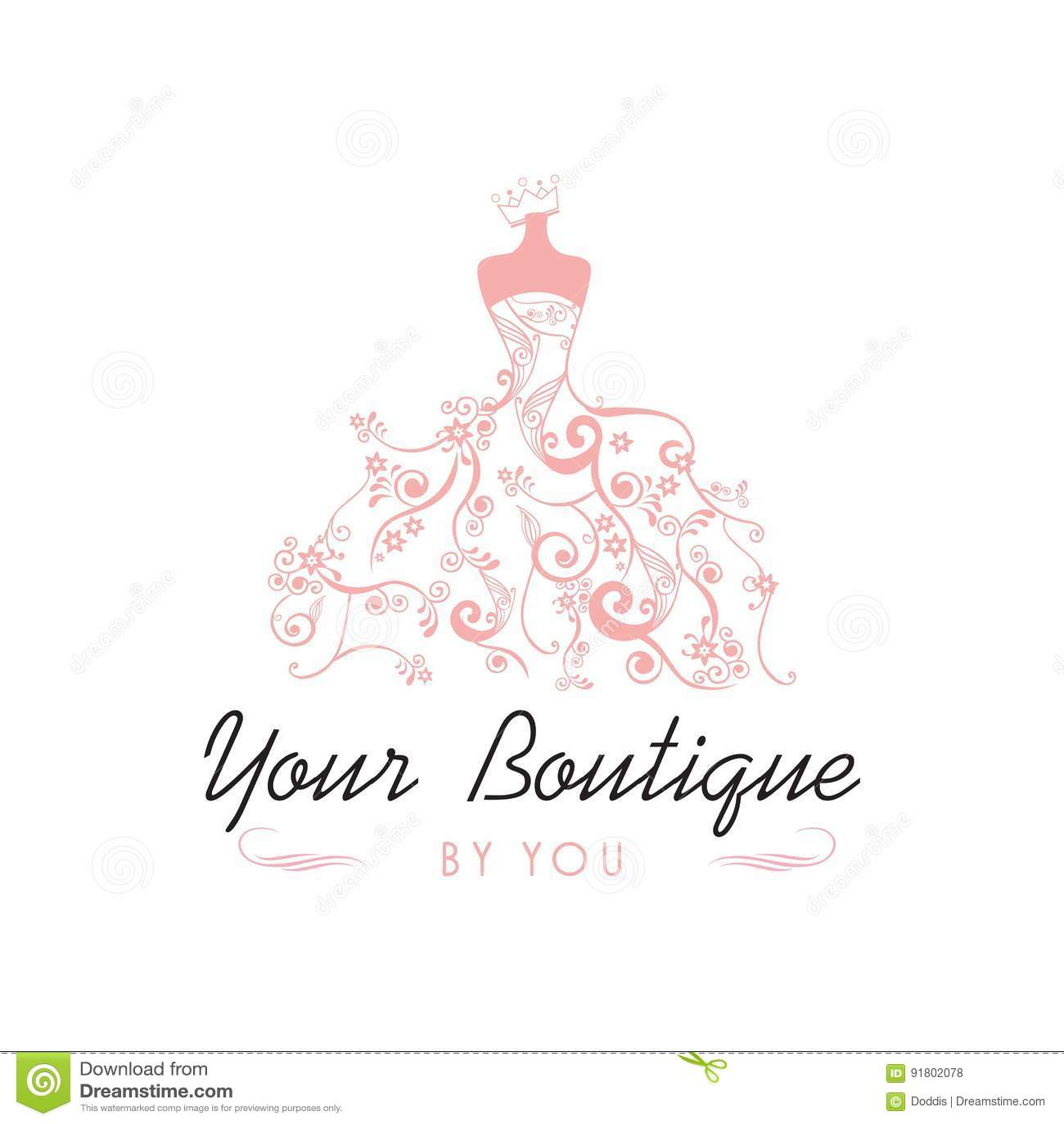 Dress boutique bridal logo template illustration vector design stock dress boutique bridal logo template illustration vector design maxwellsz